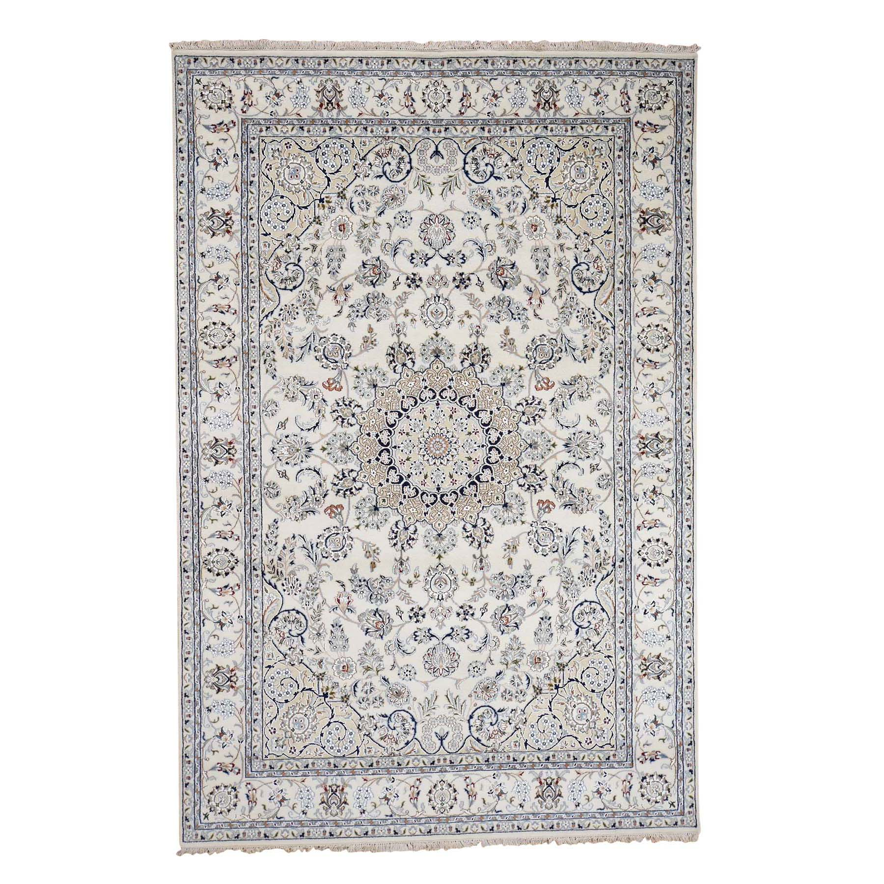 Pirniakan Collection Hand Knotted Ivory Rug No: 0186526