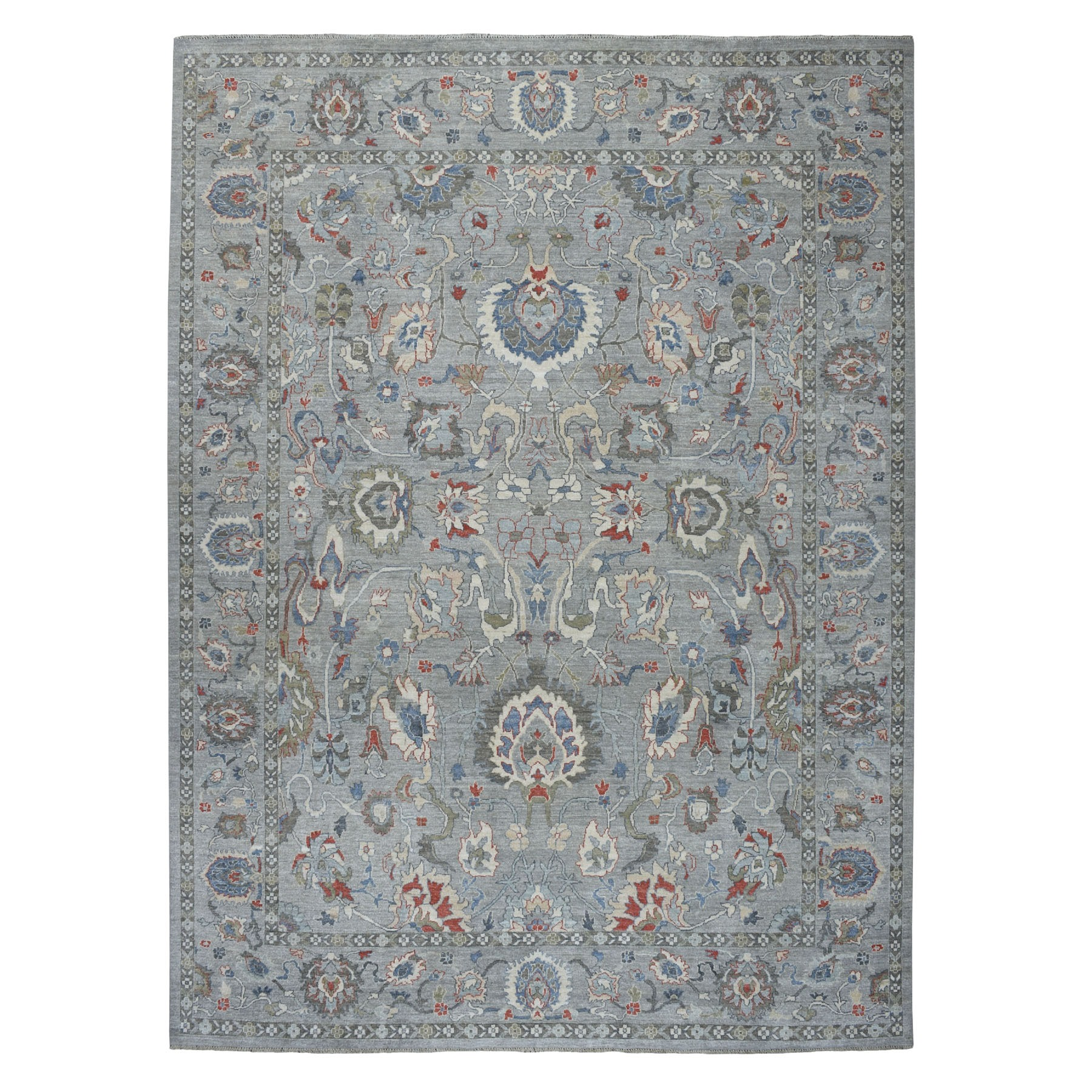 Agra And Turkish Collection Hand Knotted Grey 01105168 Rug