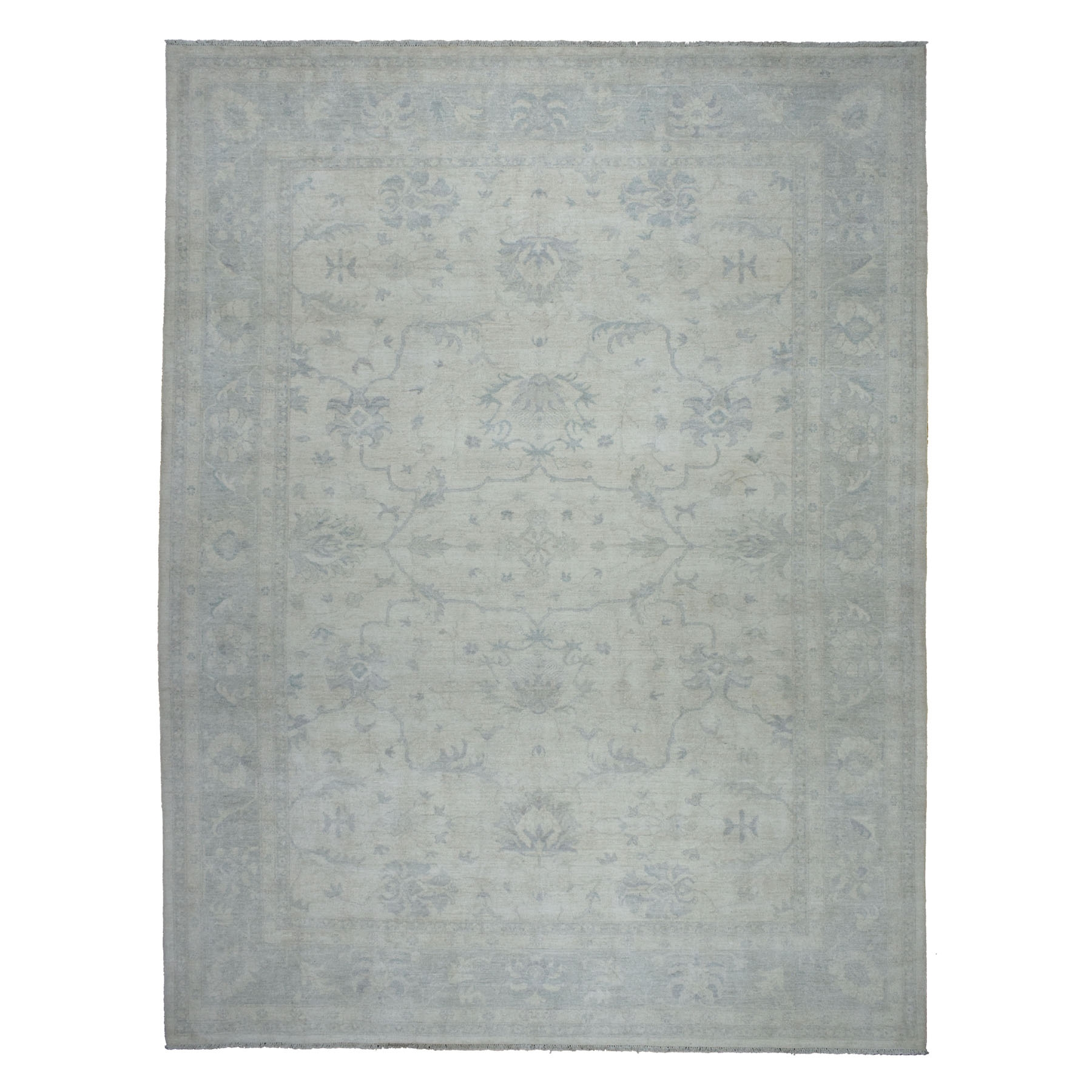 Agra And Turkish Collection Hand Knotted Ivory Rug No: 01105244