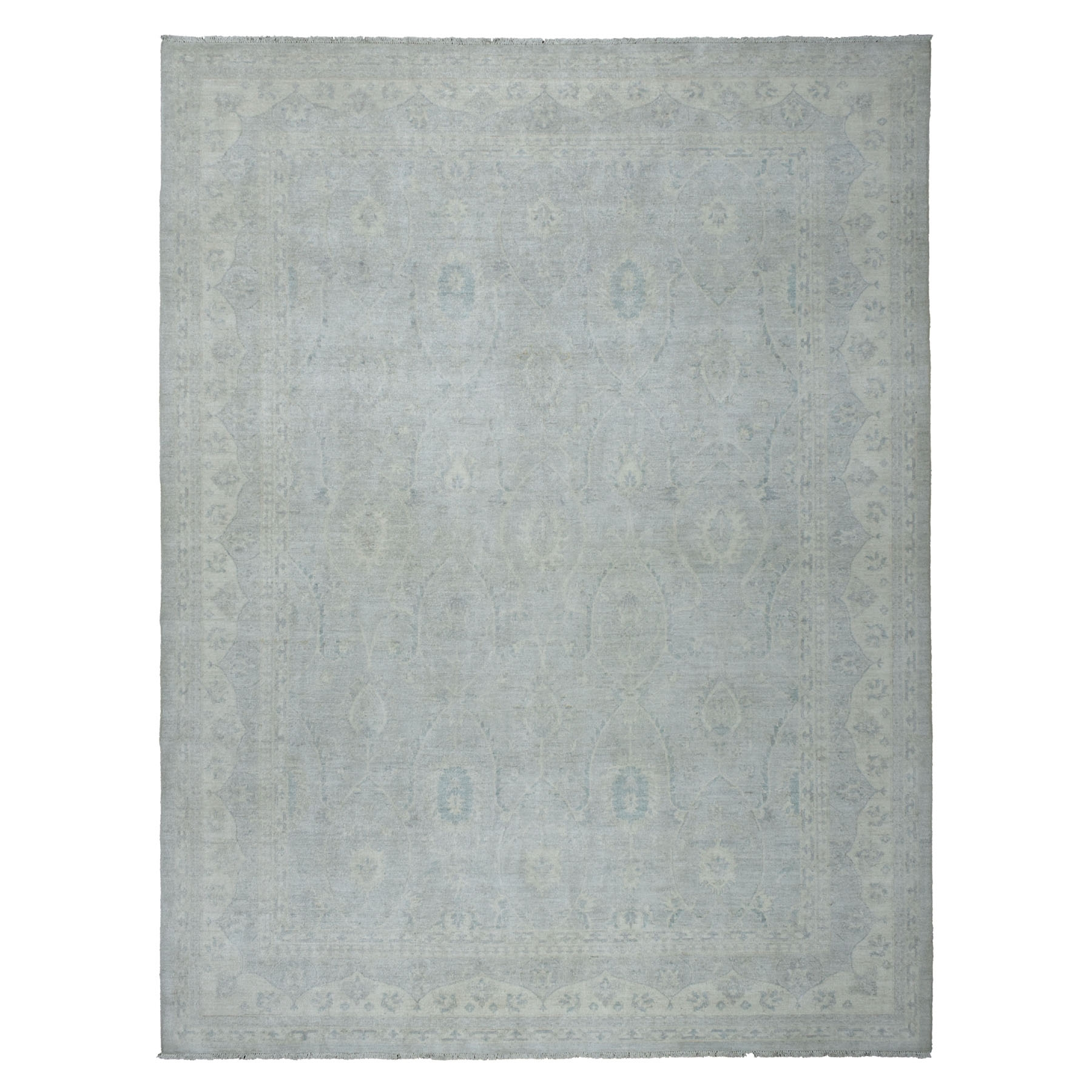 Agra And Turkish Collection Hand Knotted Grey Rug No: 01105246
