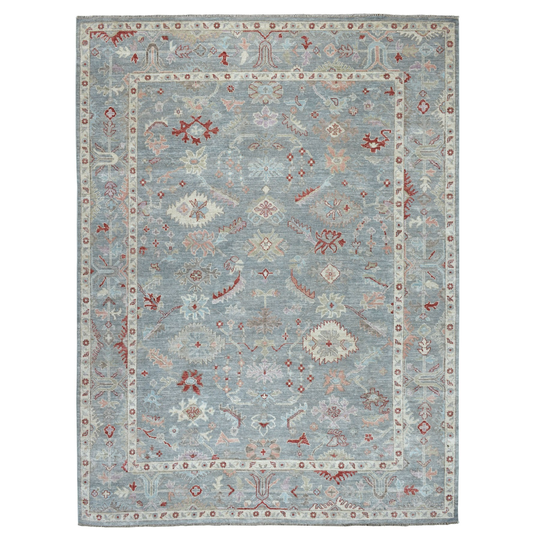 Agra And Turkish Collection Hand Knotted Grey 01105332 Rug