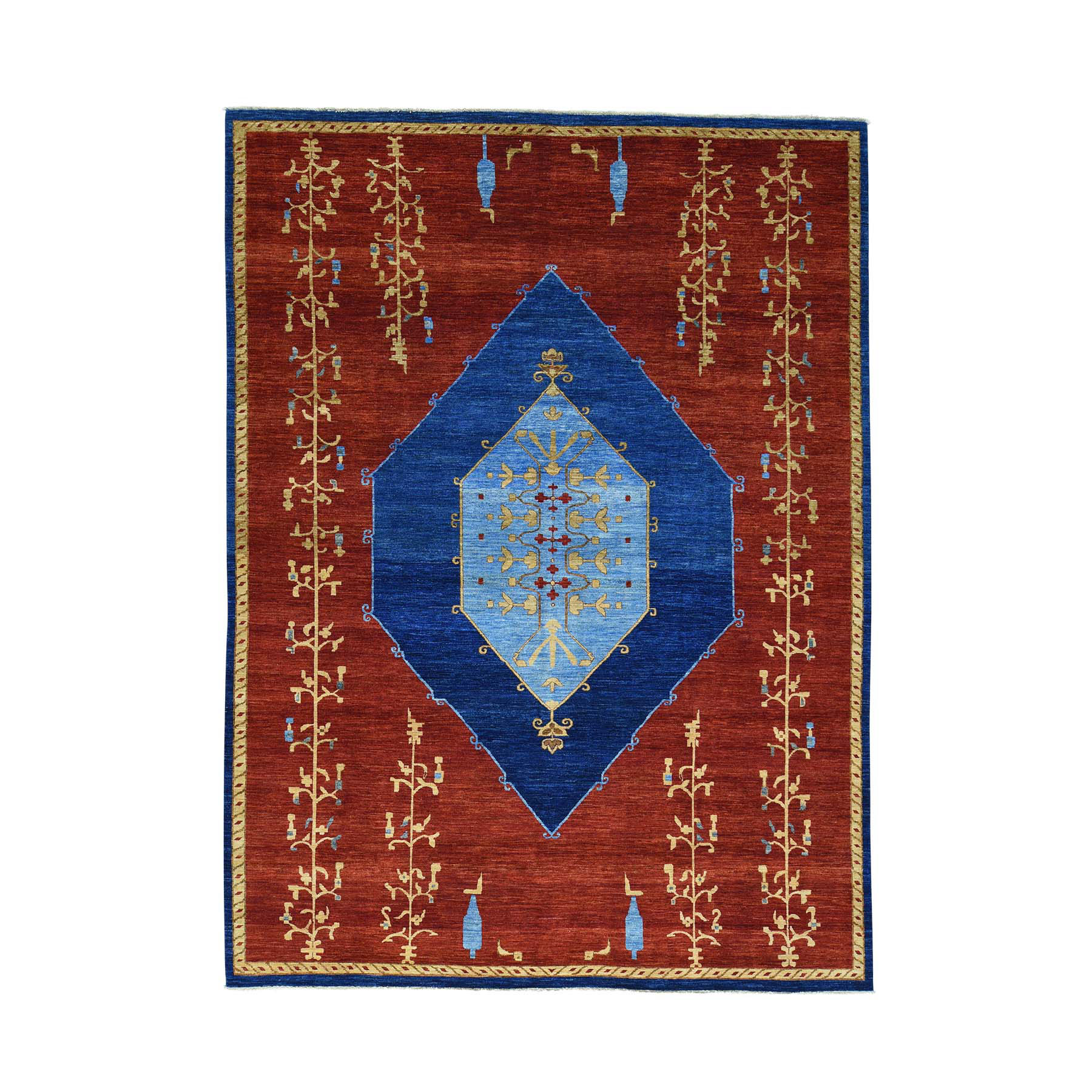 Pirniakan Collection Hand Knotted Red Rug No: 0160690