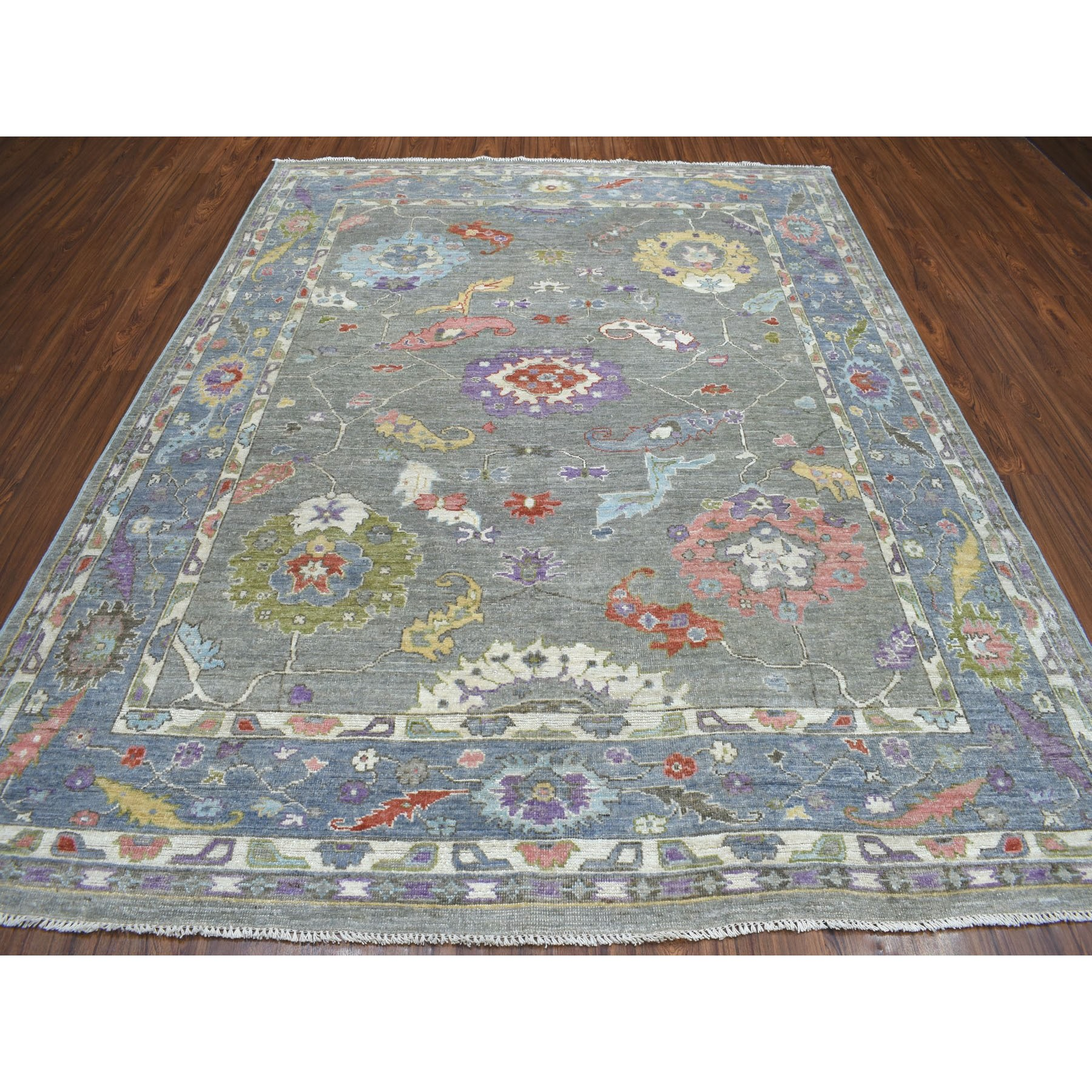 Agra And Turkish Collection Hand Knotted Grey 01105380 Rug