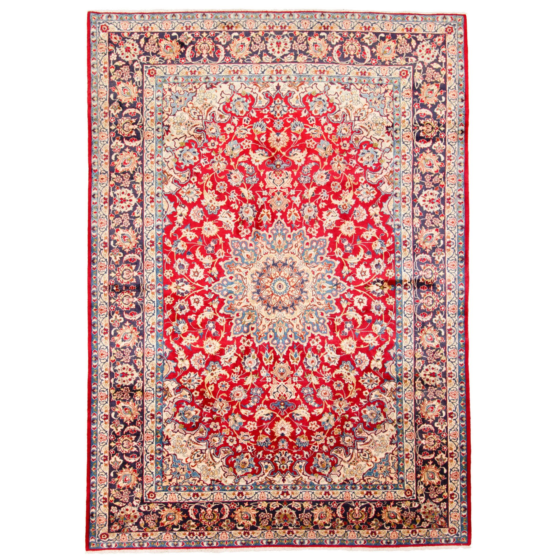 Classic Persian Collection Hand Knotted Red Rug No: 0195762