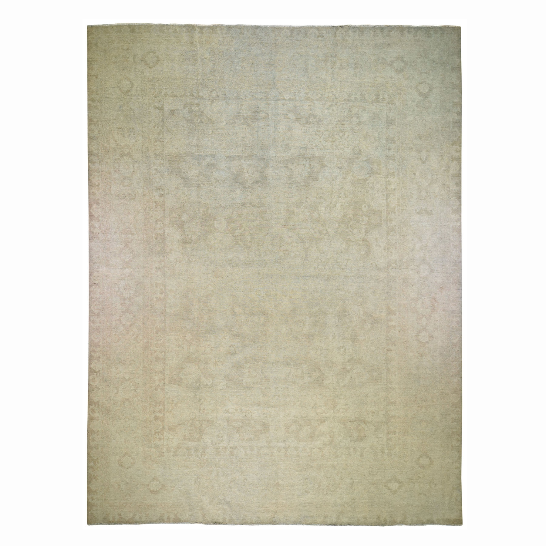 Agra And Turkish Collection Hand Knotted Beige Rug No: 0195704