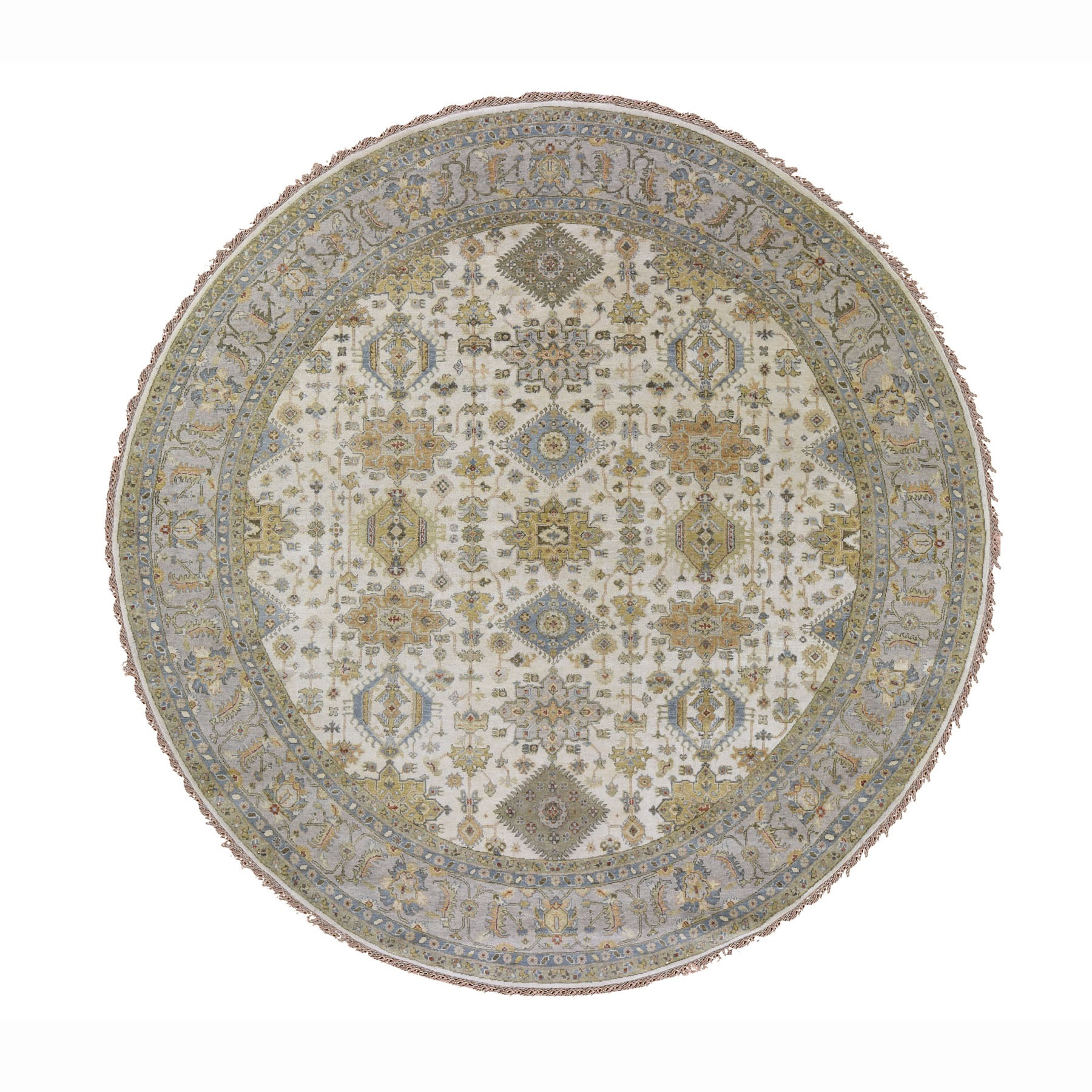 Serapi Heriz and Bakhshayesh Collection Hand Knotted Ivory Rug No: 0195742