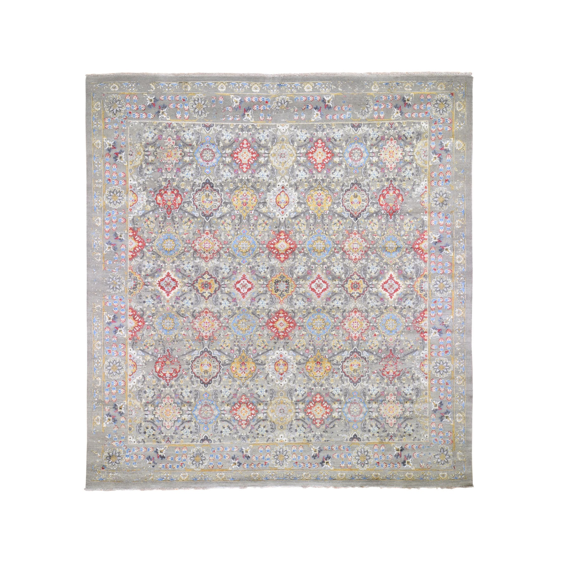 Transitional Hand Knotted Grey Rug No: 0195872
