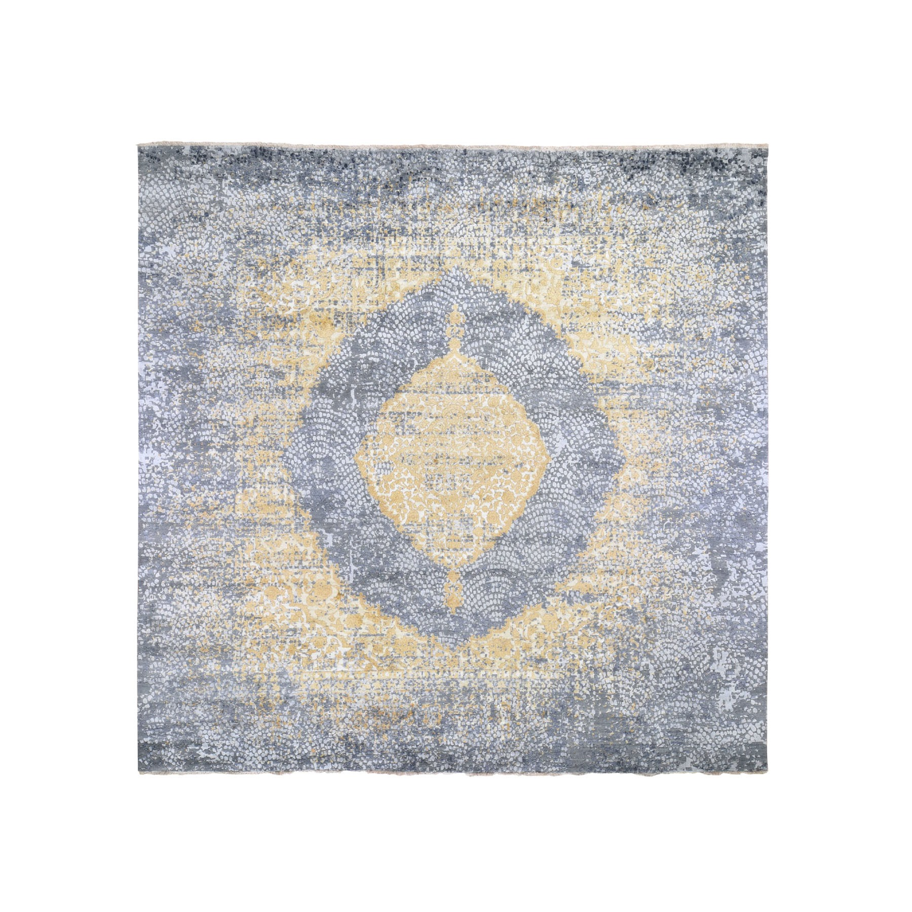 Transitional Hand Knotted Grey Rug No: 195878