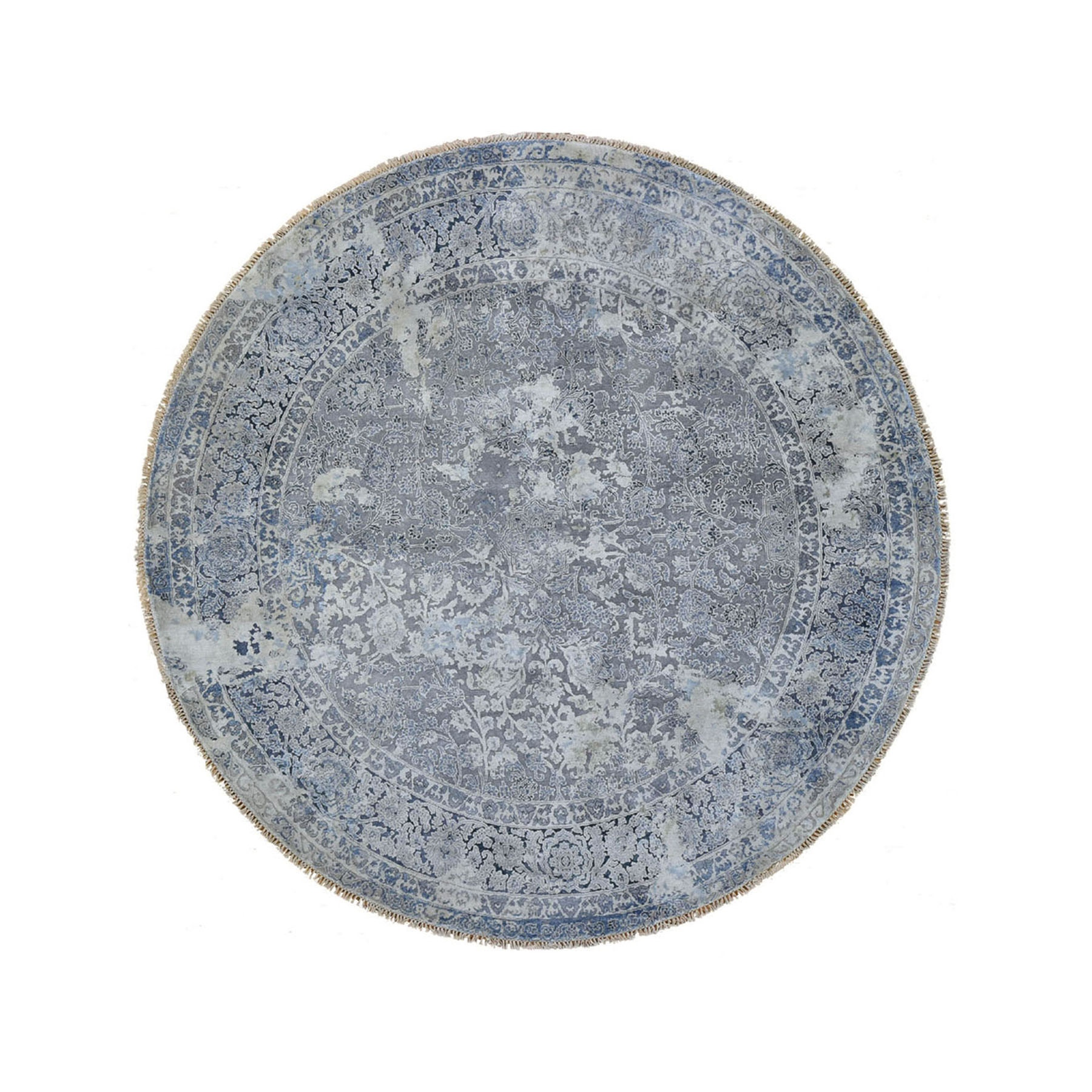 Transitional Hand Knotted Grey Rug No: 0195888