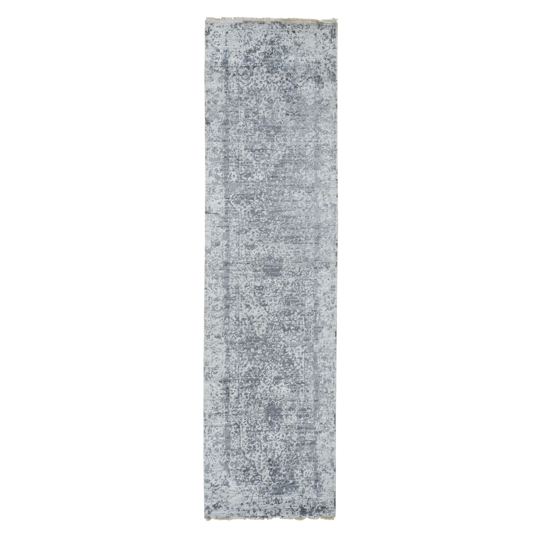 Transitional Hand Knotted Grey Rug No: 0195906
