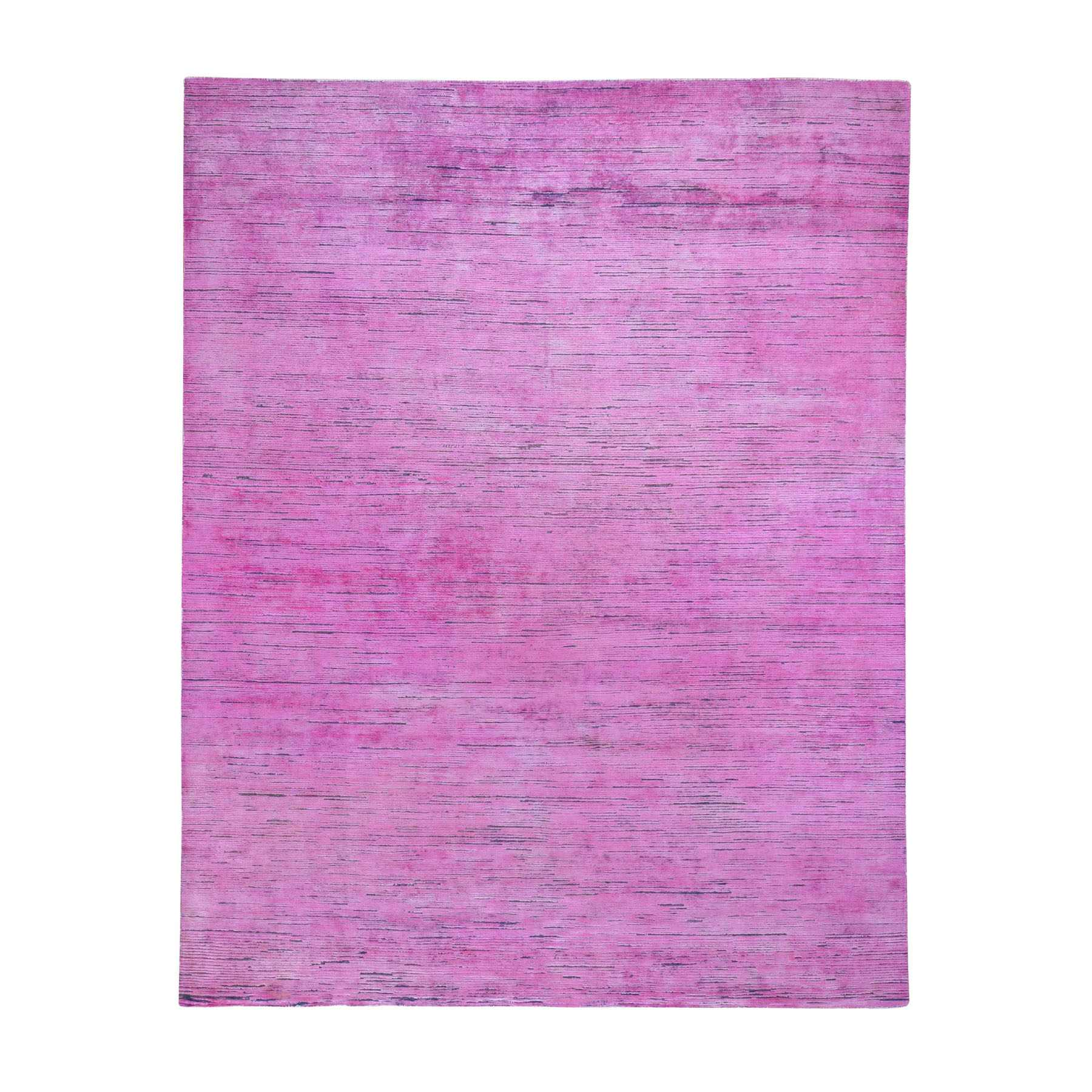 Fetneh Collection And Vintage Overdyed Collection Hand Knotted Pink Rug No: 0195830