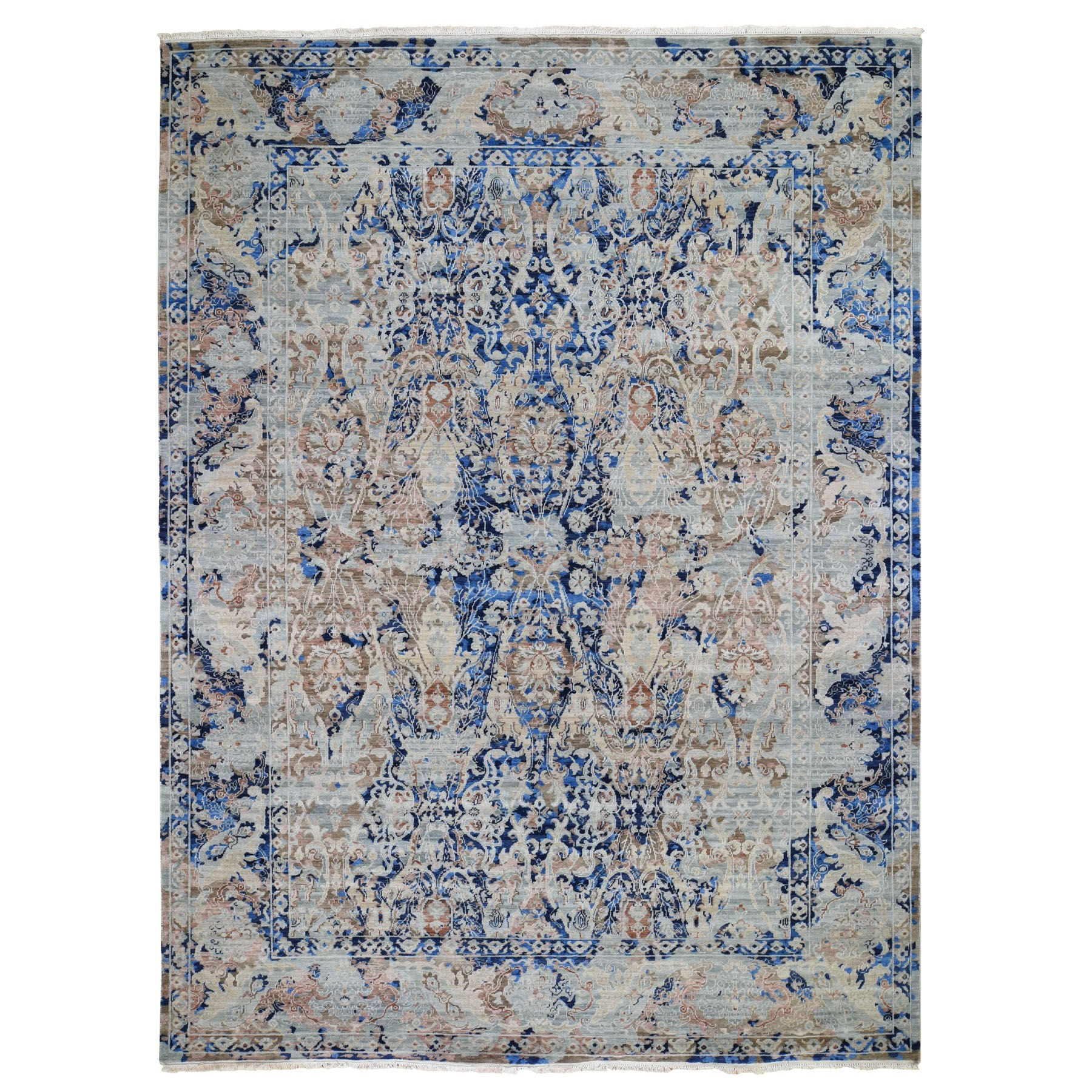 Transitional Hand Knotted Blue Rug No: 0195874