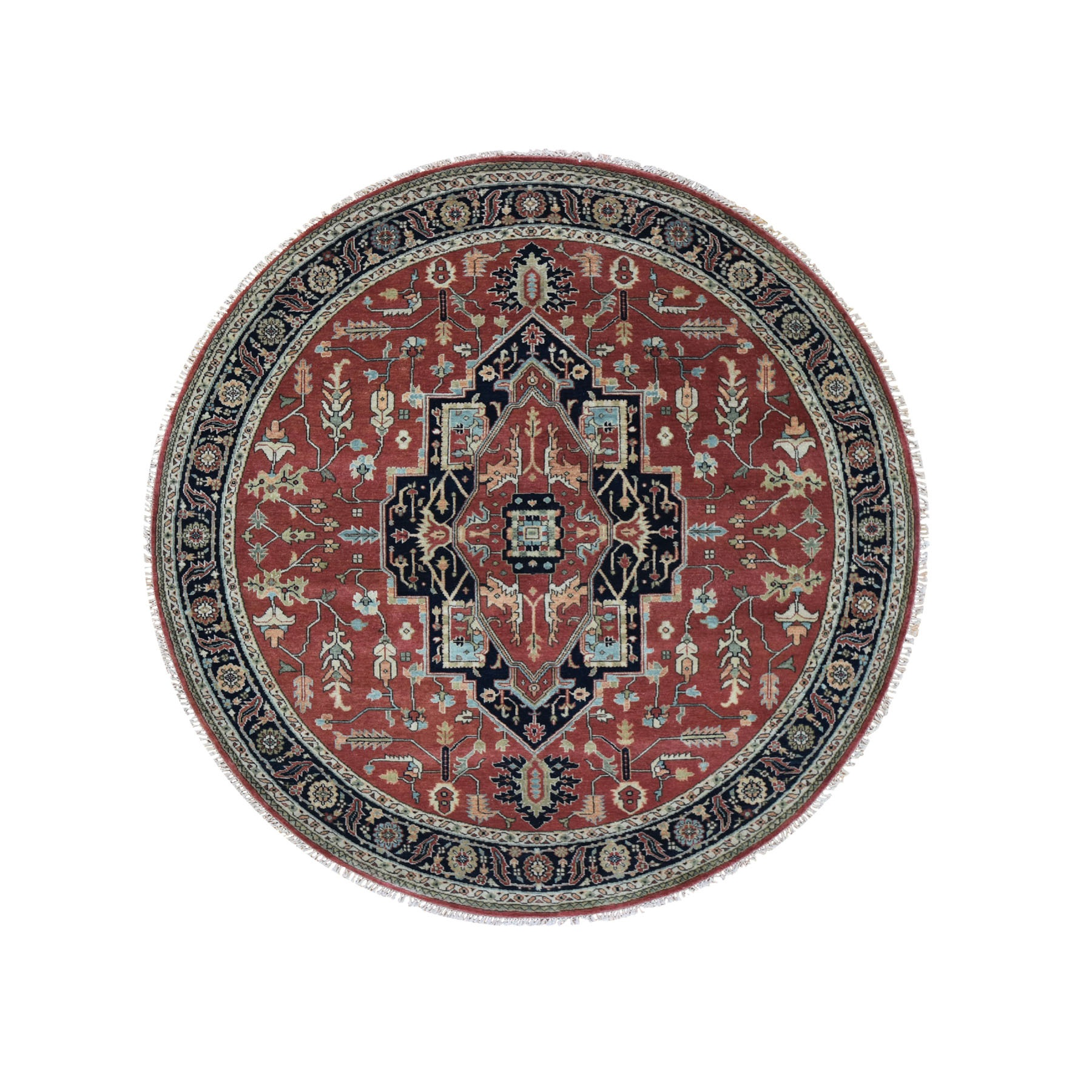 Serapi Heriz and Bakhshayesh Collection Hand Knotted Red Rug No: 0195922