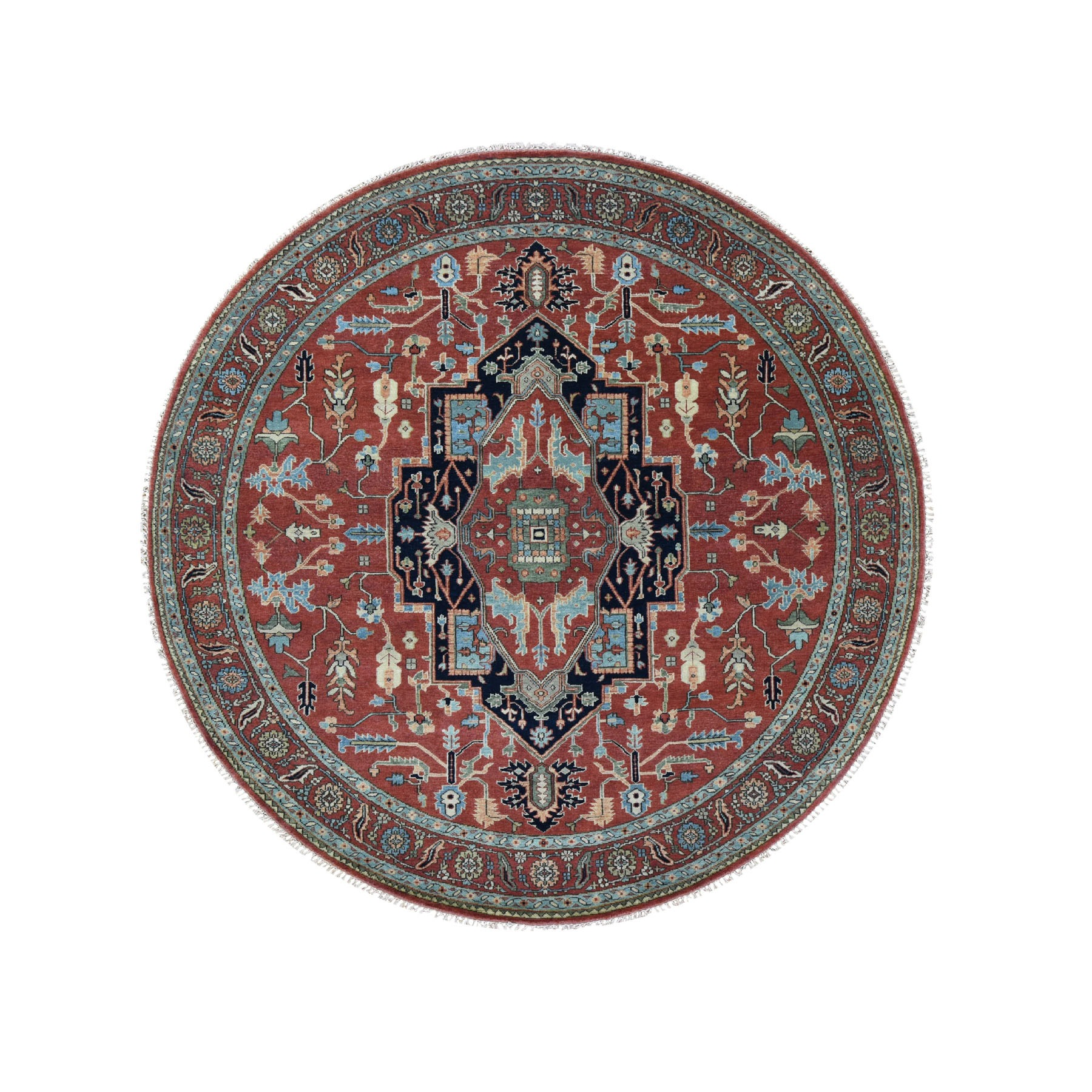 Serapi Heriz and Bakhshayesh Collection Hand Knotted Red Rug No: 0195924