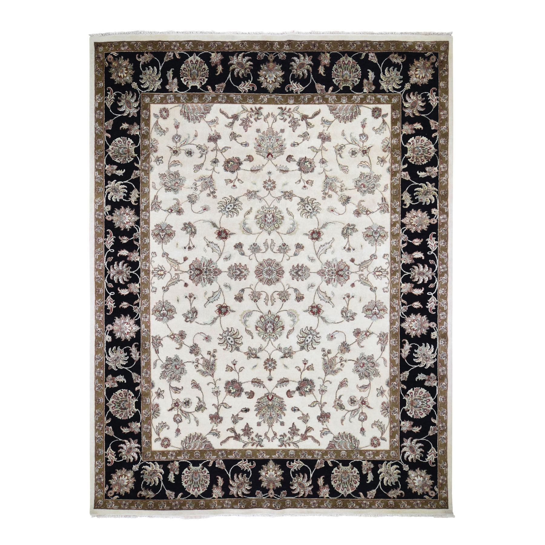 Pahlavi Collection Hand Knotted Ivory Rug No: 0195964
