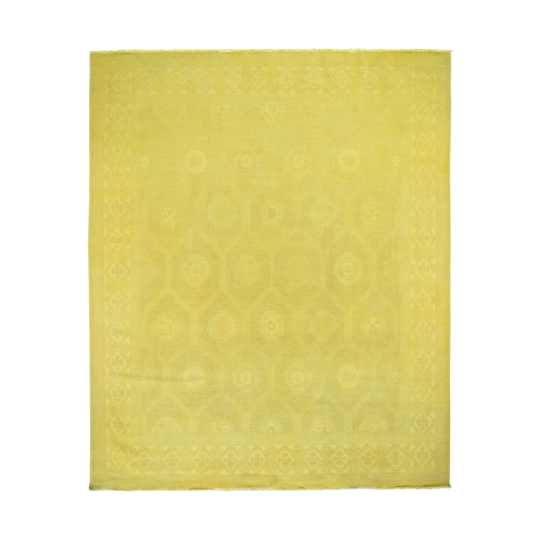 Fetneh Collection And Vintage Overdyed Collection Hand Knotted Yellow Rug No: 0195988