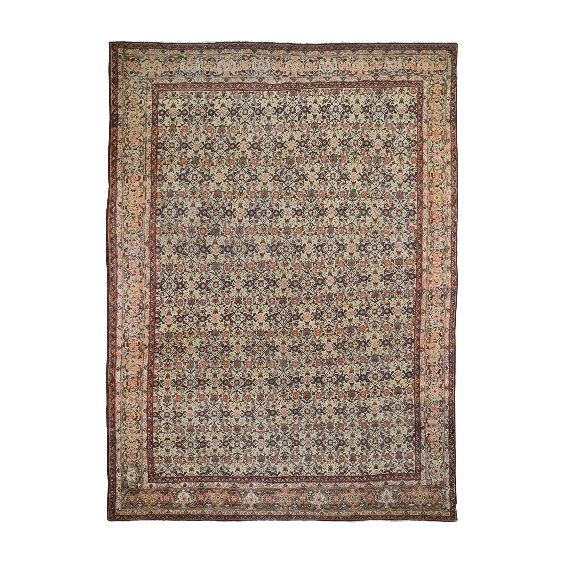 Antique Collection Hand Knotted Beige Rug No: 0195968