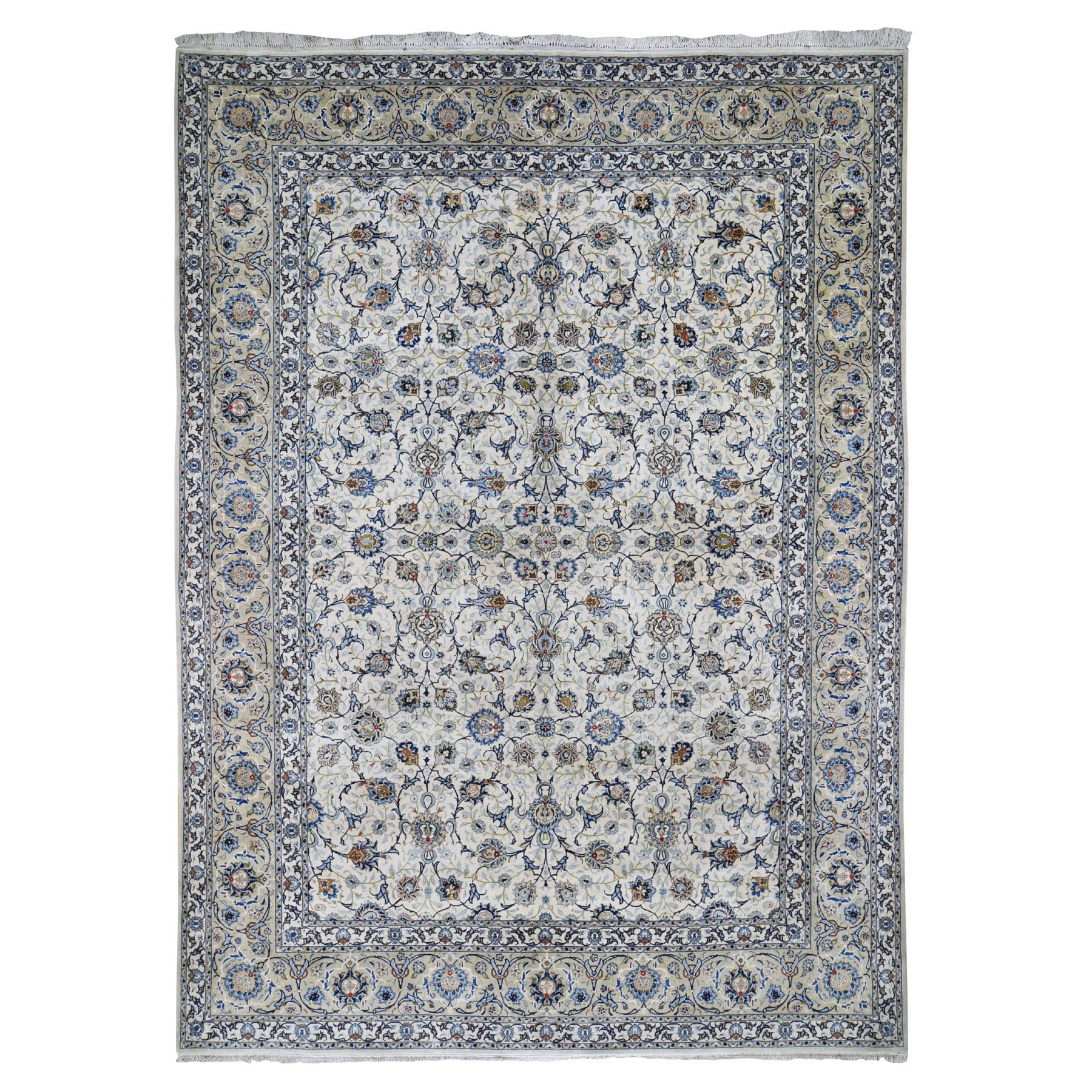 Antique Collection Hand Knotted Ivory Rug No: 0195978