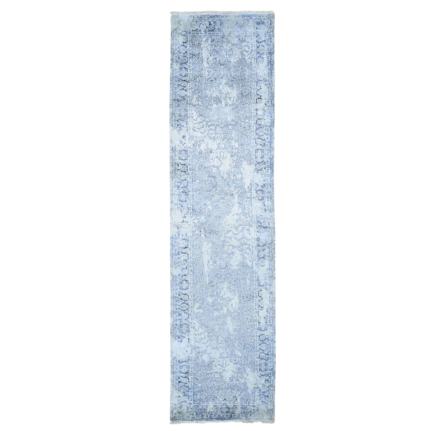 Transitional Hand Knotted Grey Rug No: 0196046