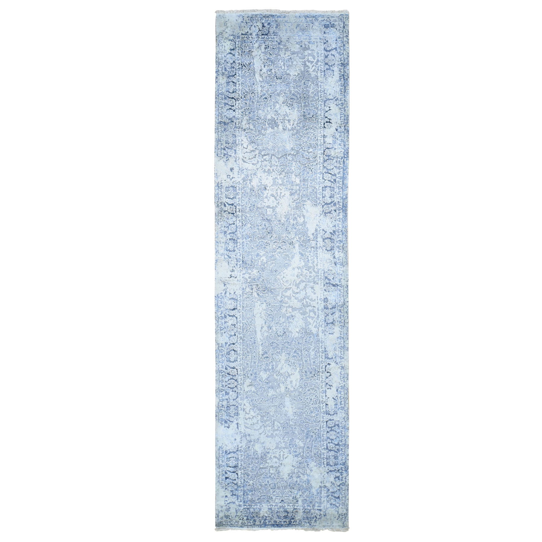 Transitional Hand Knotted Grey Rug No: 0196048