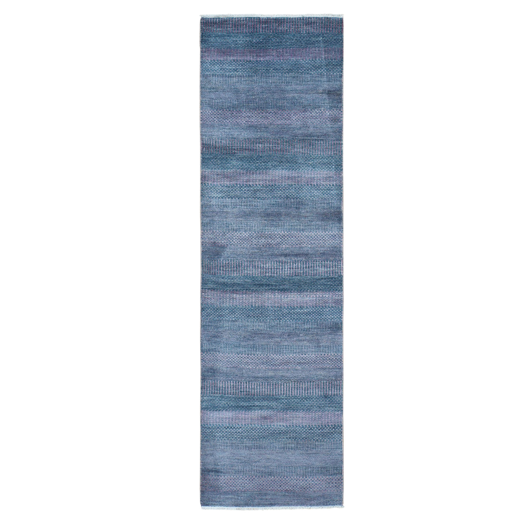 Mid Century Modern Collection Hand Knotted Green Rug No: 0196052