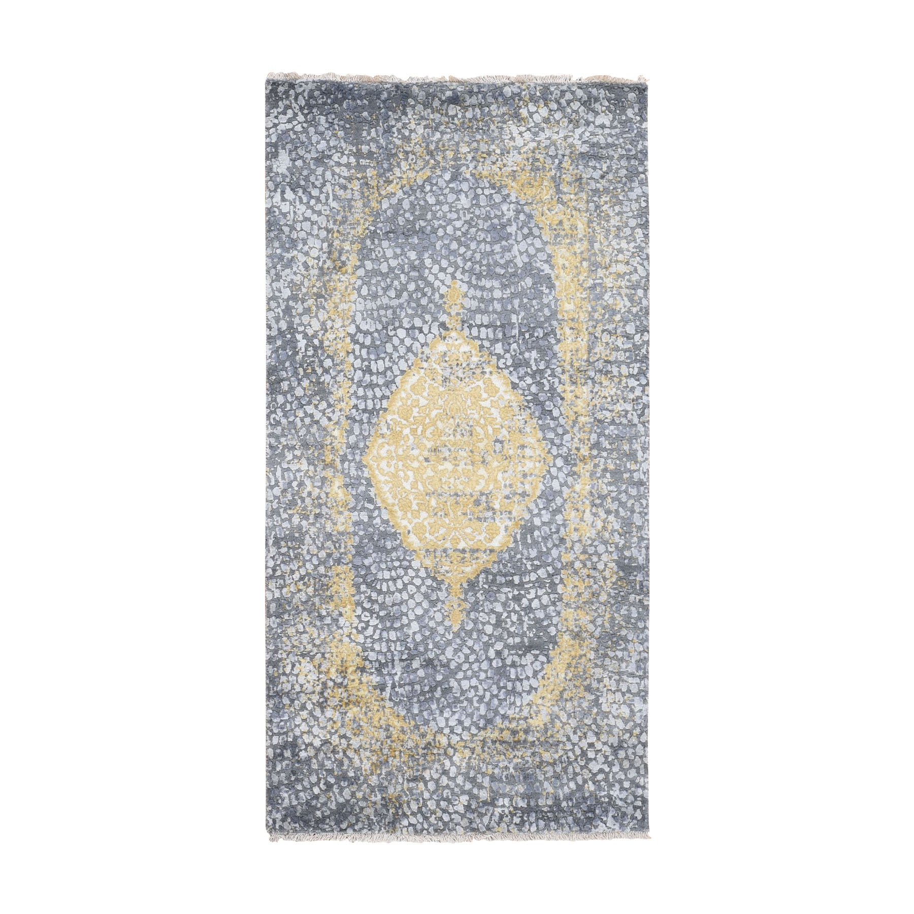 Transitional Hand Knotted Grey Rug No: 0195898
