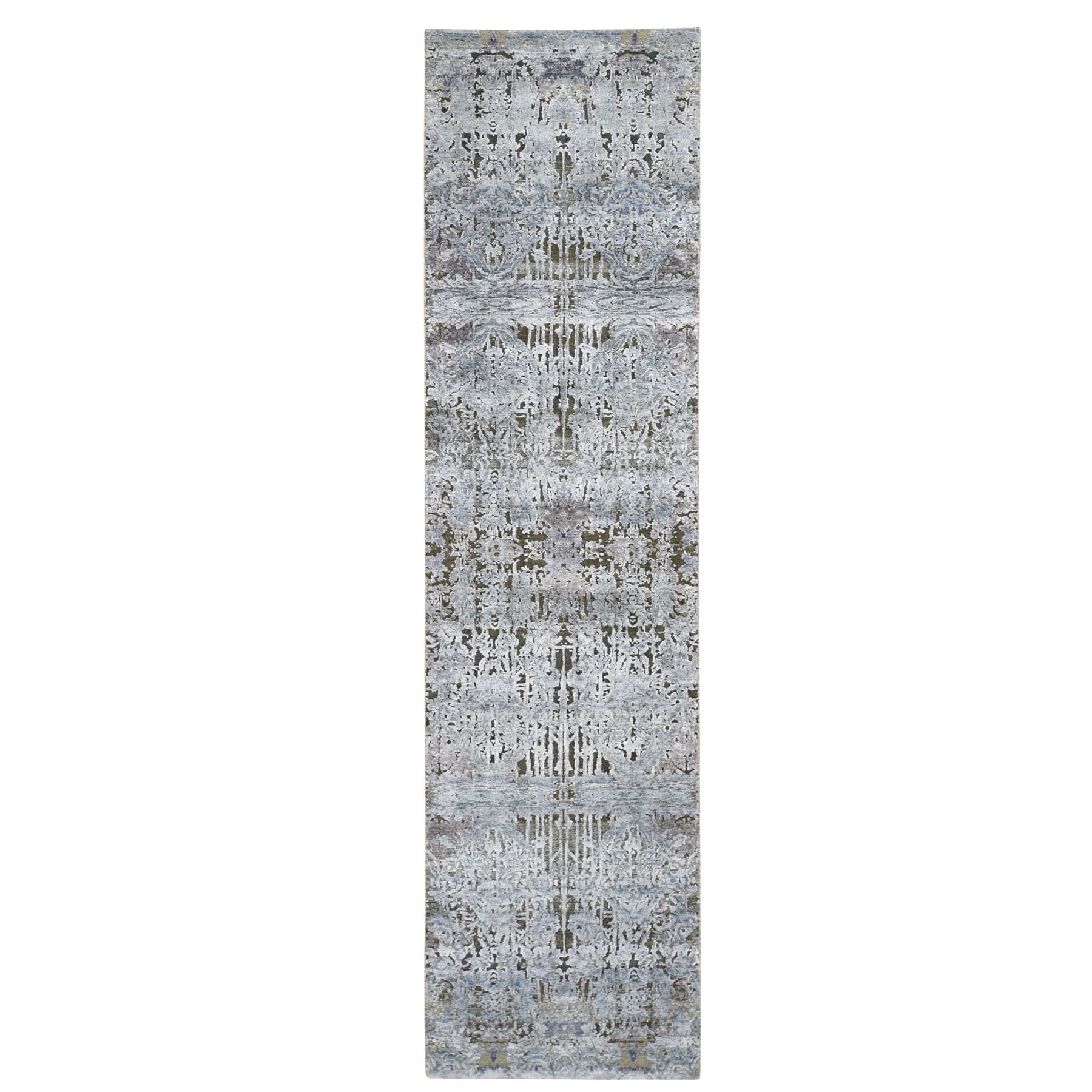 Transitional Hand Knotted Grey Rug No: 0196044
