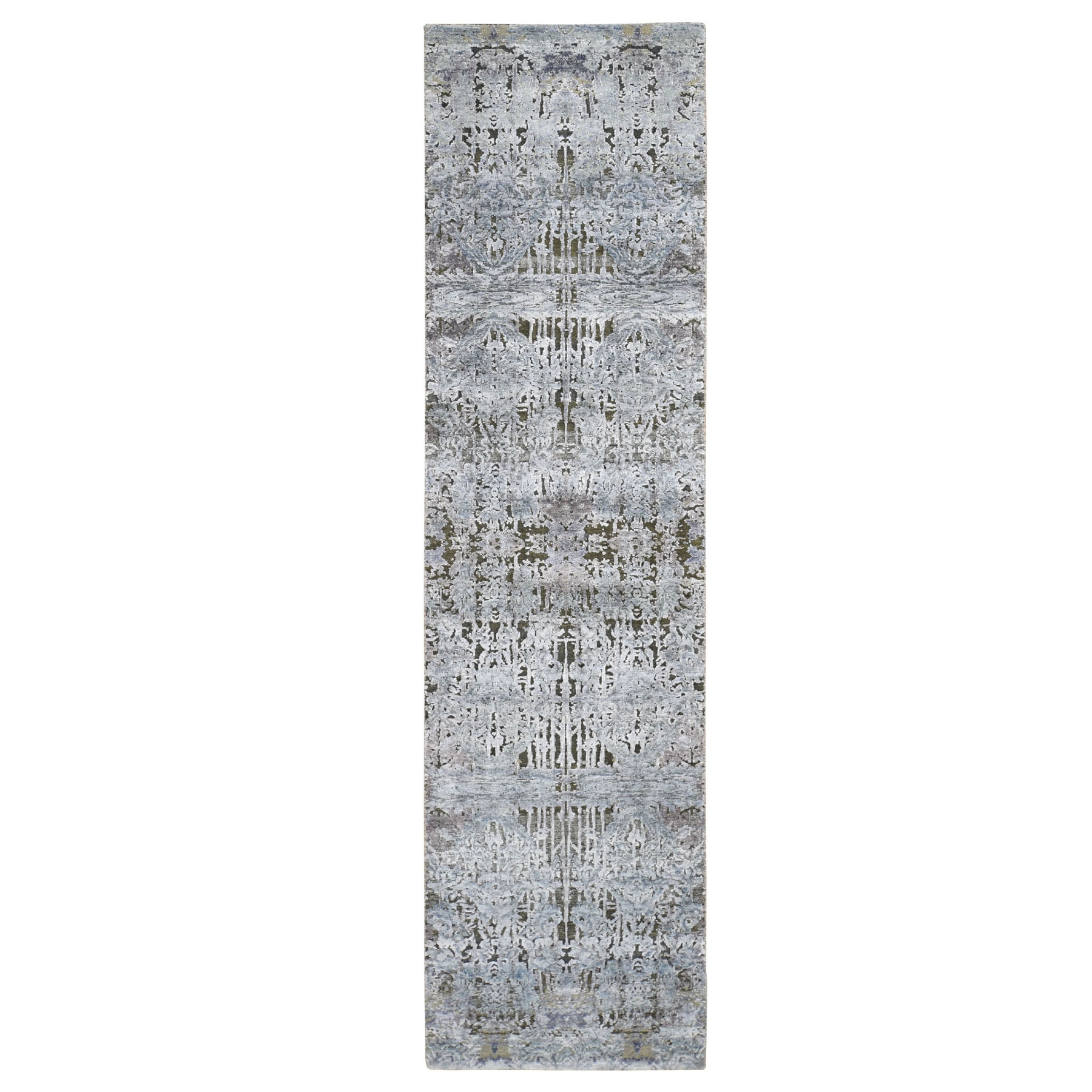 Transitional Hand Knotted Grey Rug No: 0196042