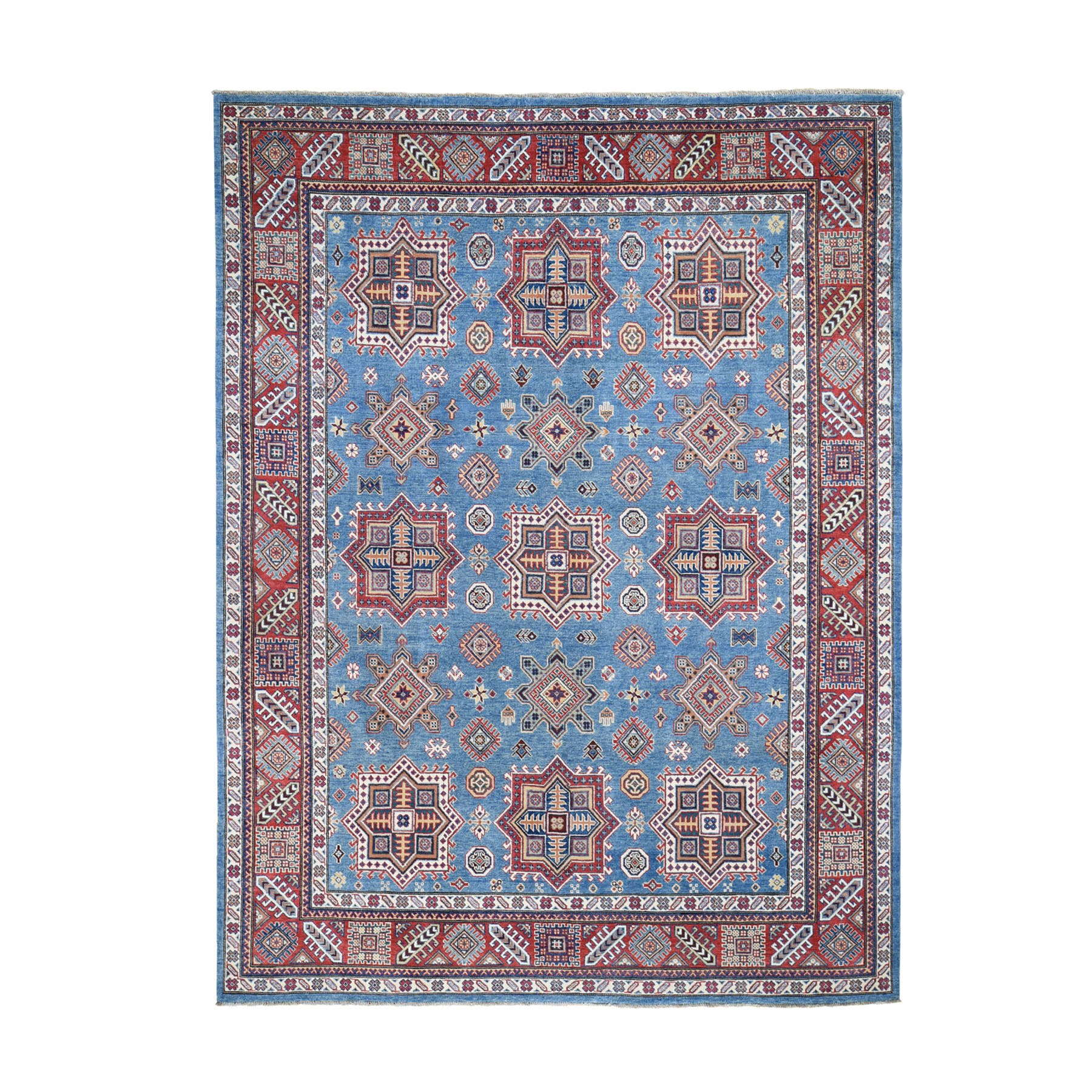 Caucasian Collection Hand Knotted Blue Rug No: 0196062
