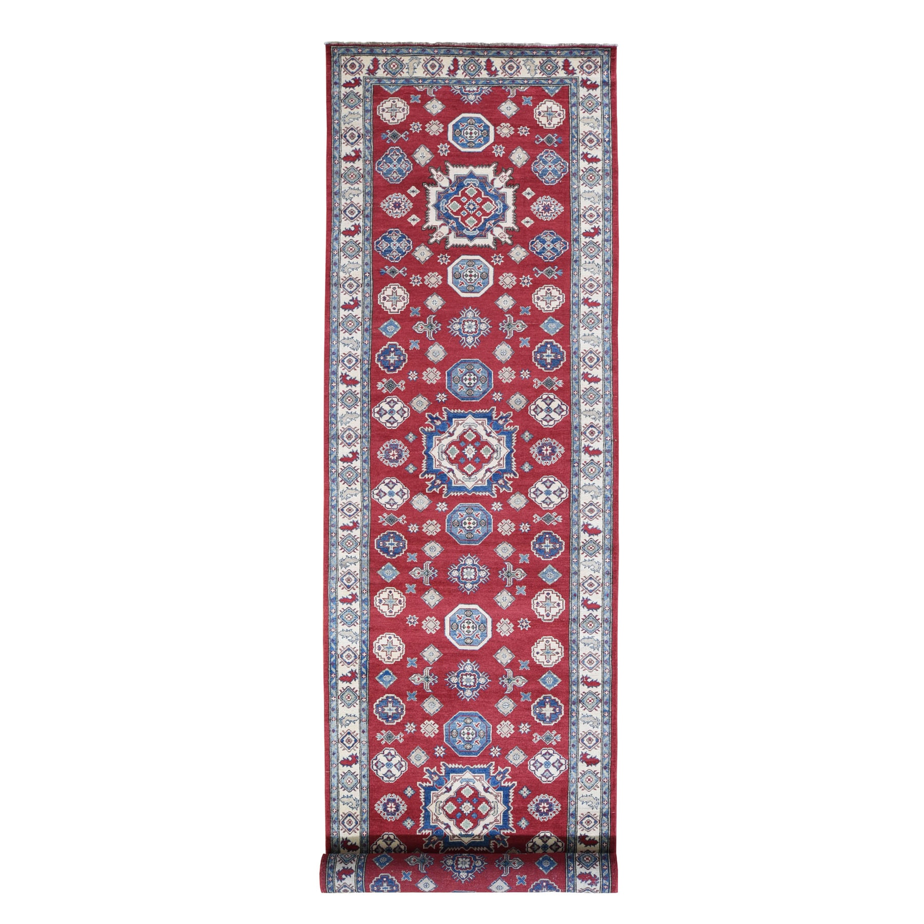 Caucasian Collection Hand Knotted Red Rug No: 0196084