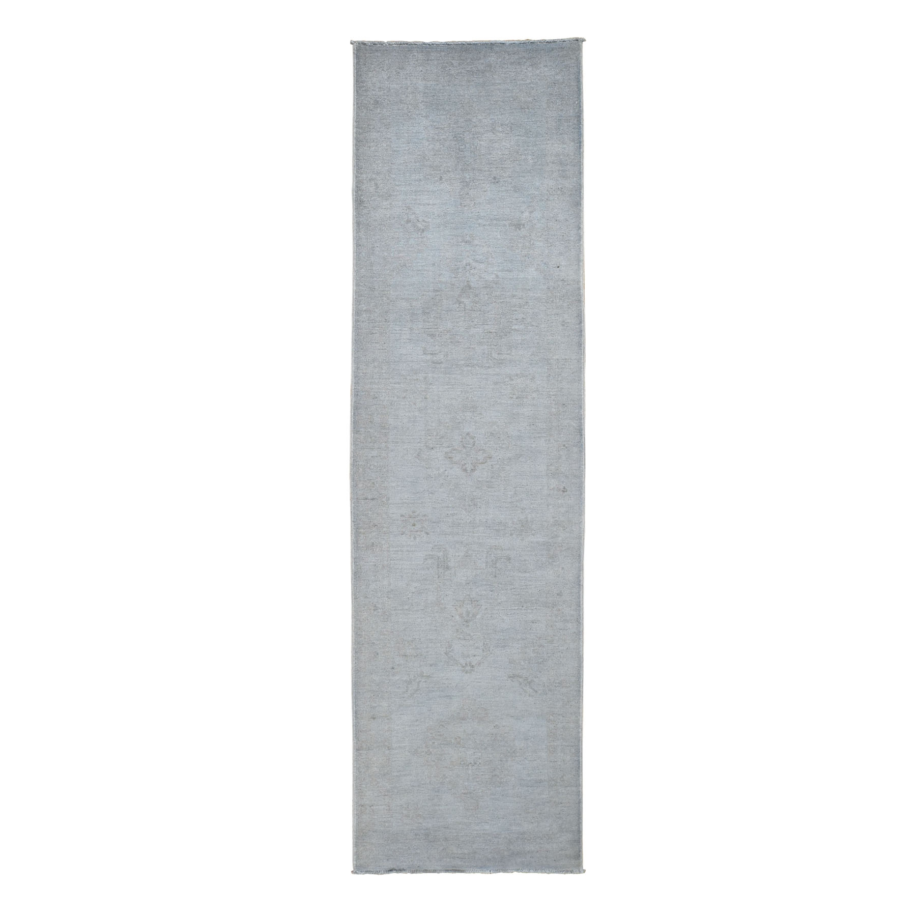 Transitional Collection Hand Knotted Grey Rug No: 0196118