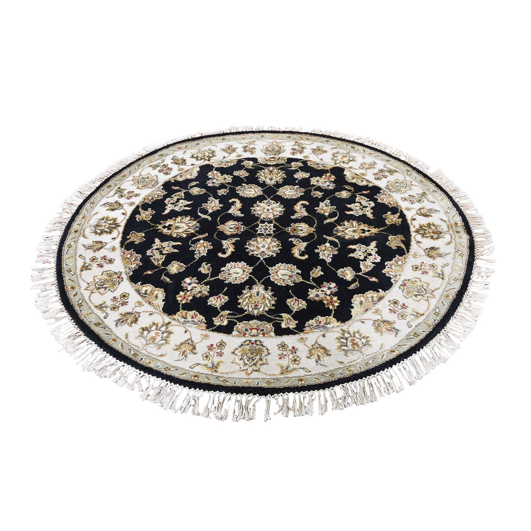 Pahlavi Collection Hand Knotted Black Rug No: 0196120