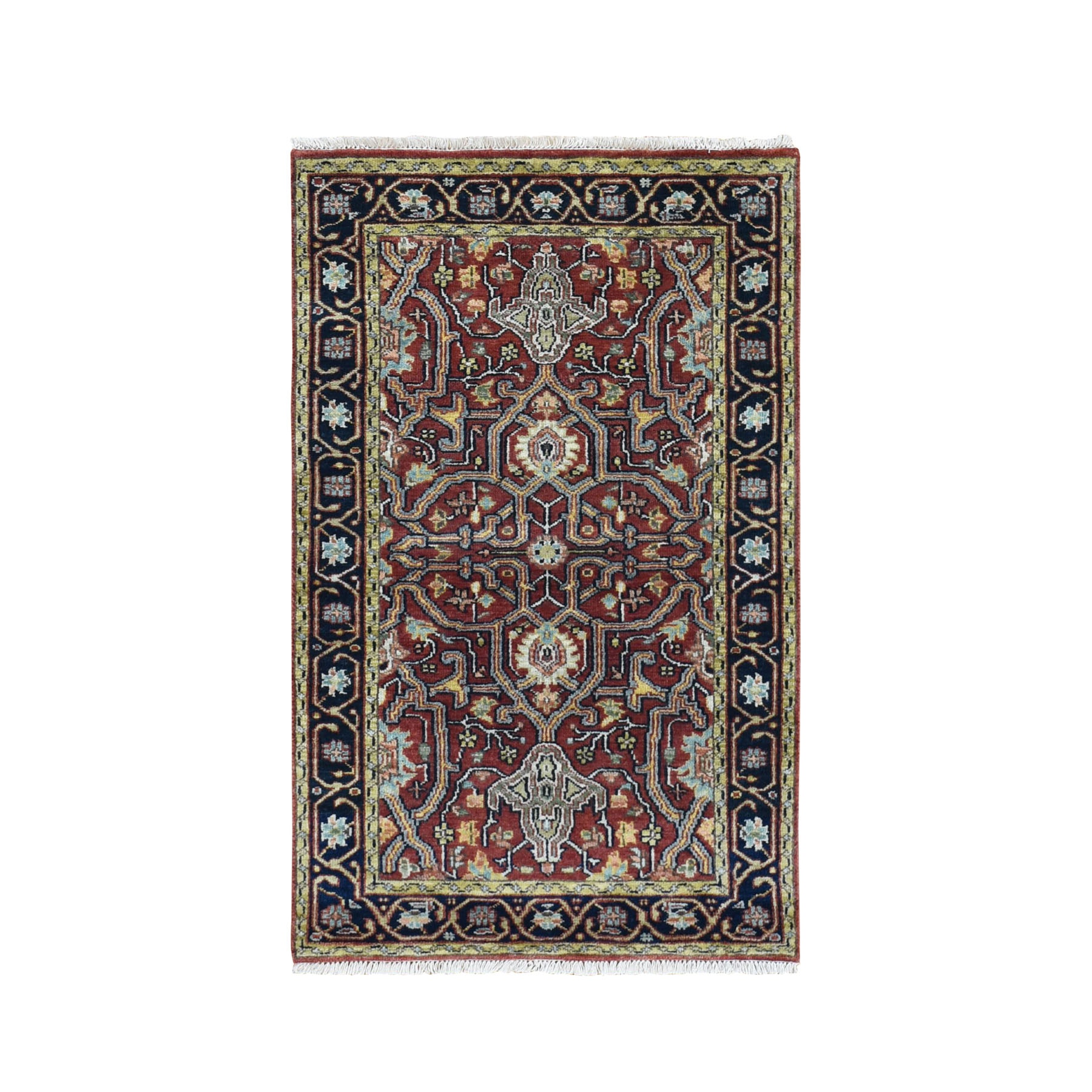 Serapi Heriz and Bakhshayesh Collection Hand Knotted Red Rug No: 0196132