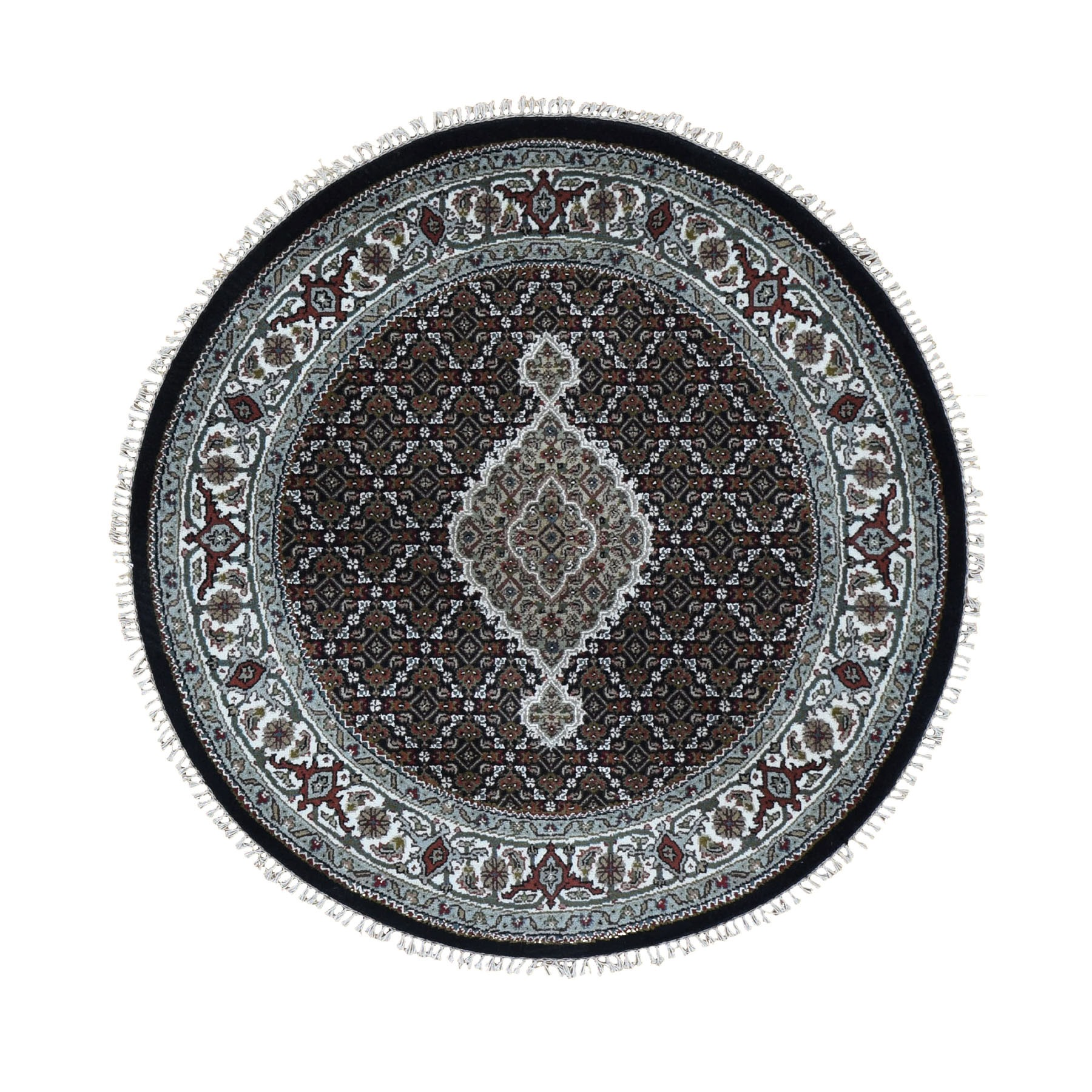 Pirniakan Collection Hand Knotted Black Rug No: 0196166