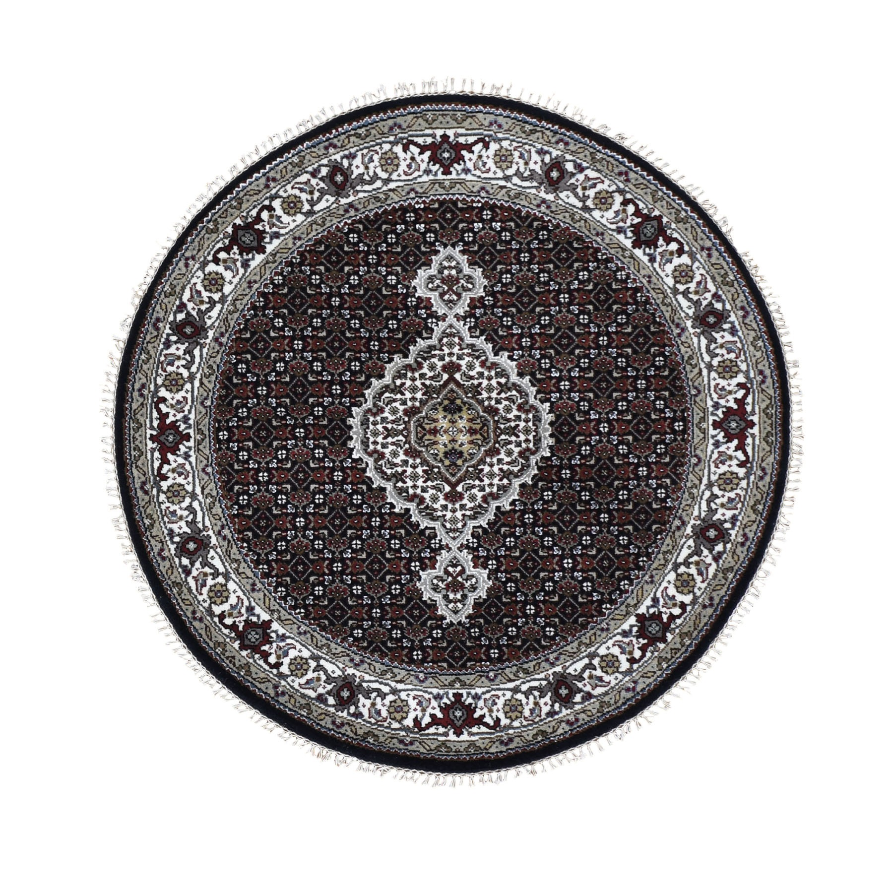 Pirniakan Collection Hand Knotted Black Rug No: 0196182