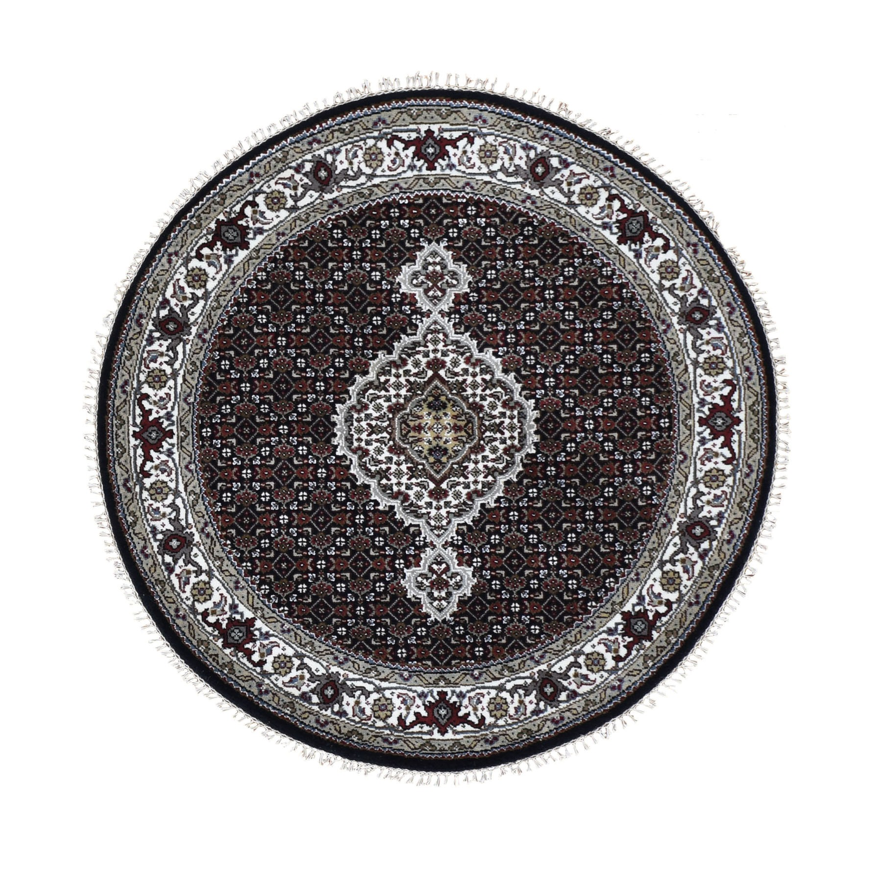 Pirniakan Collection Hand Knotted Black Rug No: 0196184