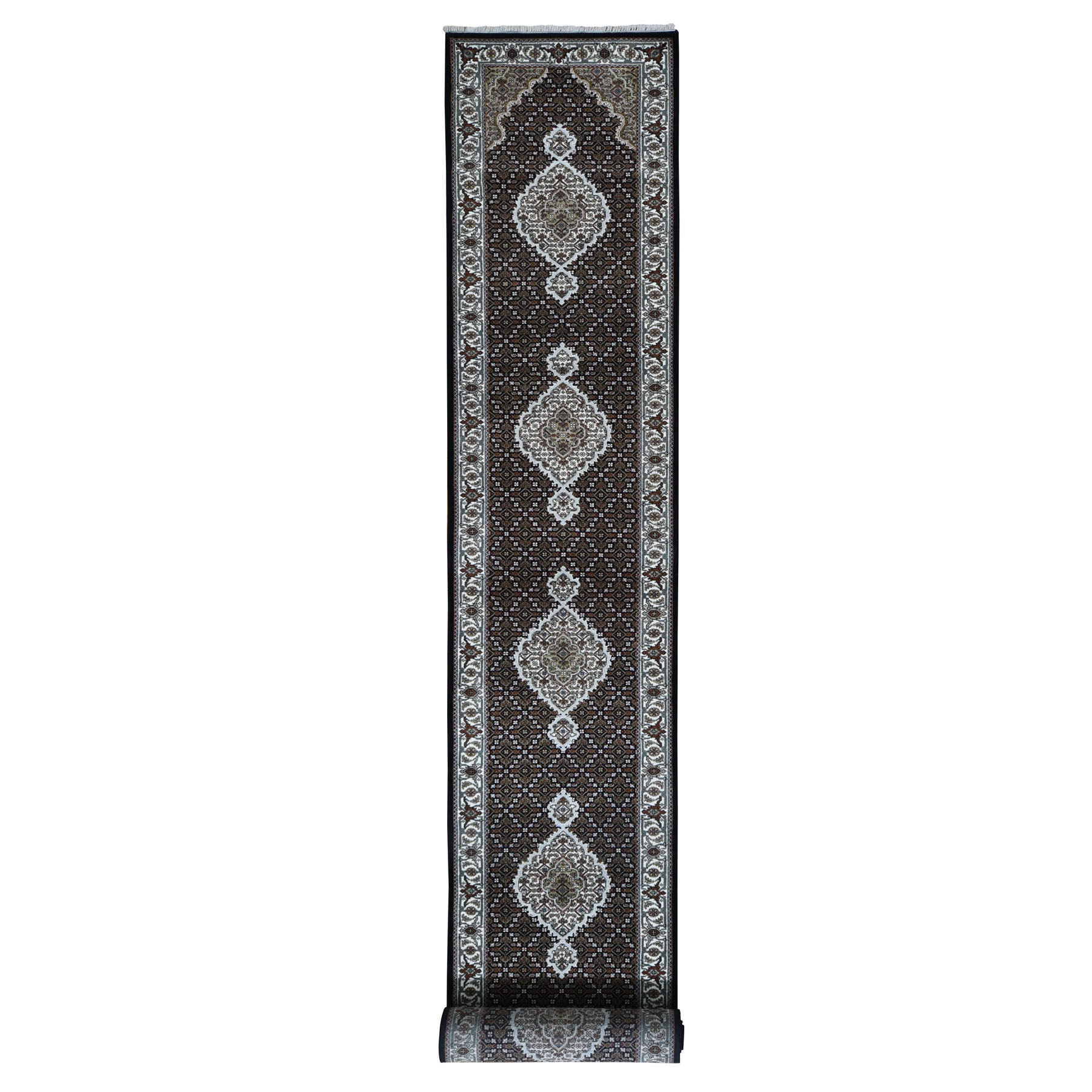 Pirniakan Collection Hand Knotted Black Rug No: 0196192