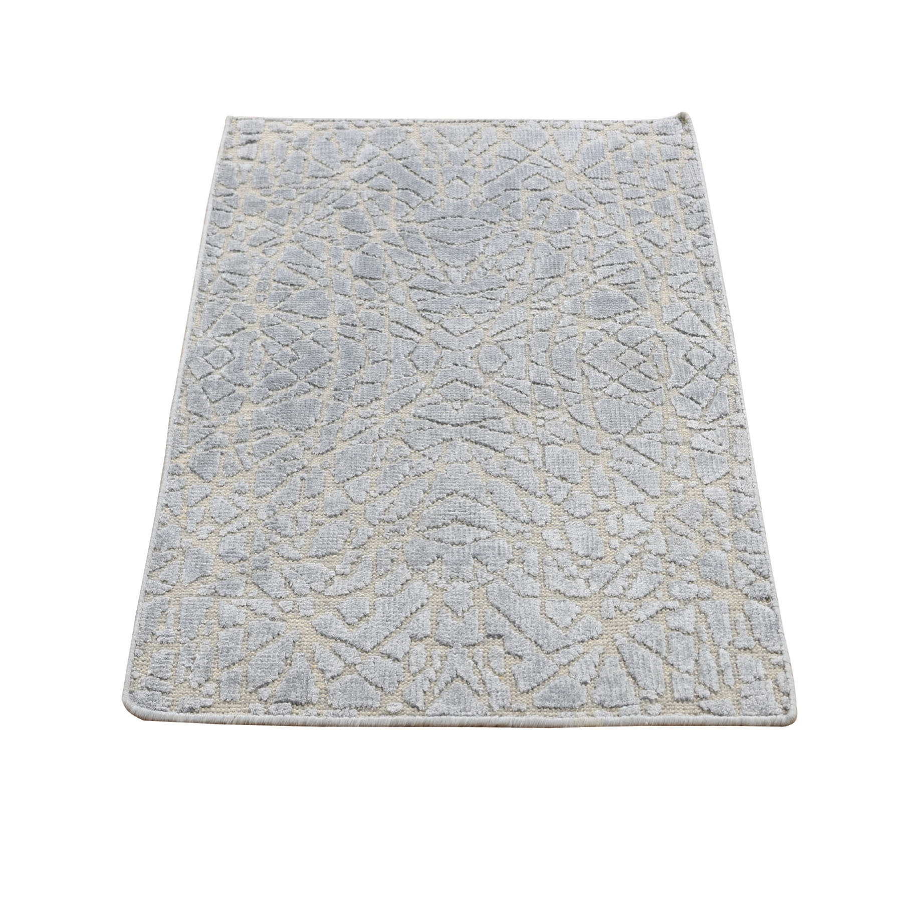 Mid Century Modern Collection Hand Knotted Grey Rug No: 0196224