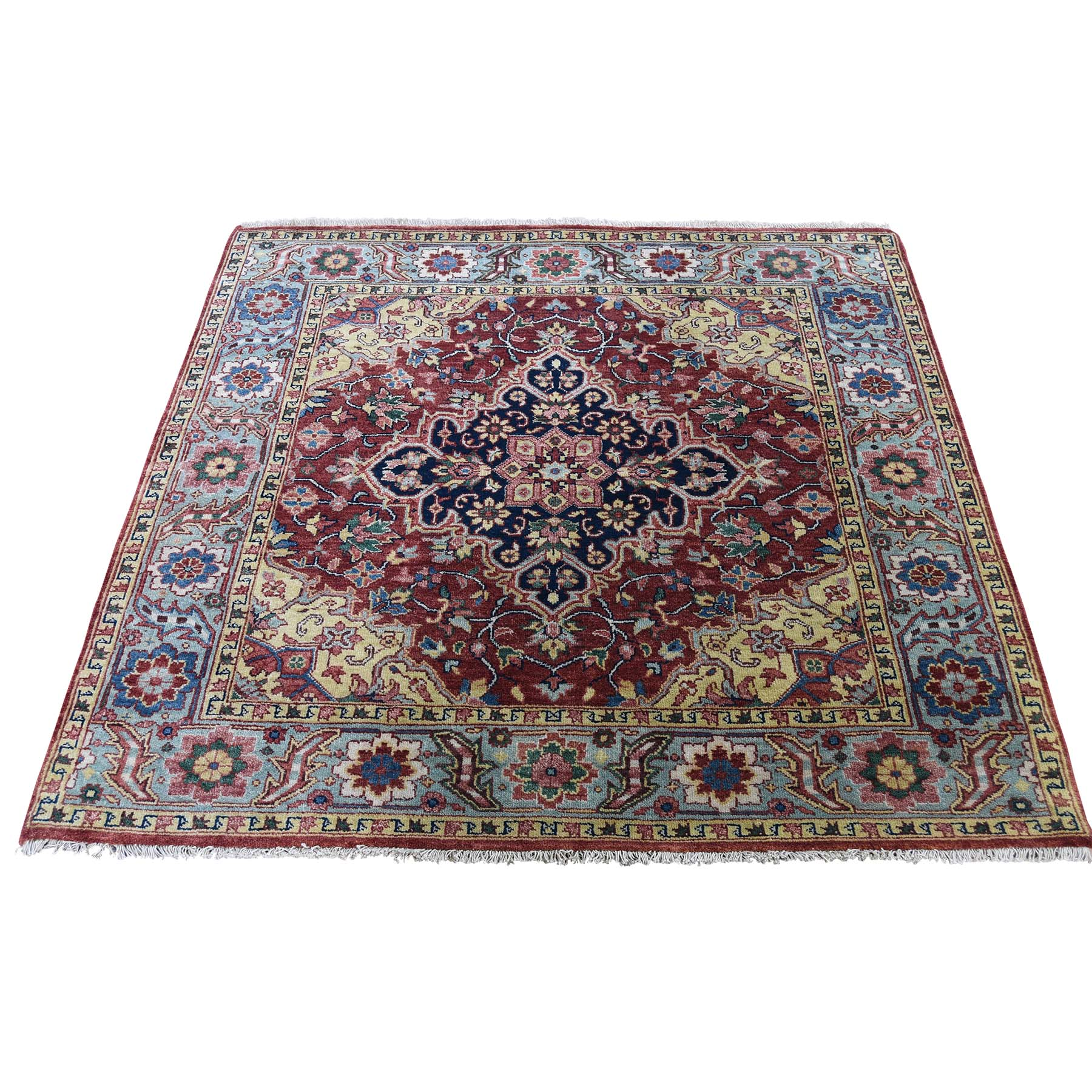 Serapi Heriz and Bakhshayesh Collection Hand Knotted Red Rug No: 189884