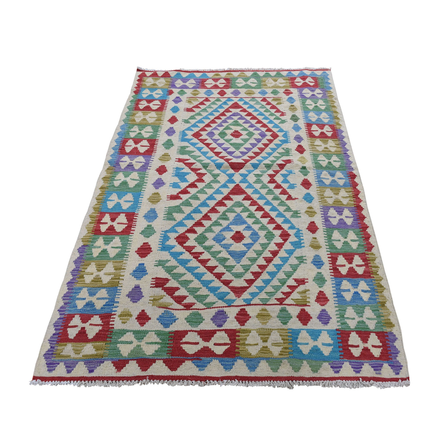 Fine Kilim Collection Hand Woven Red Rug No: 0196254