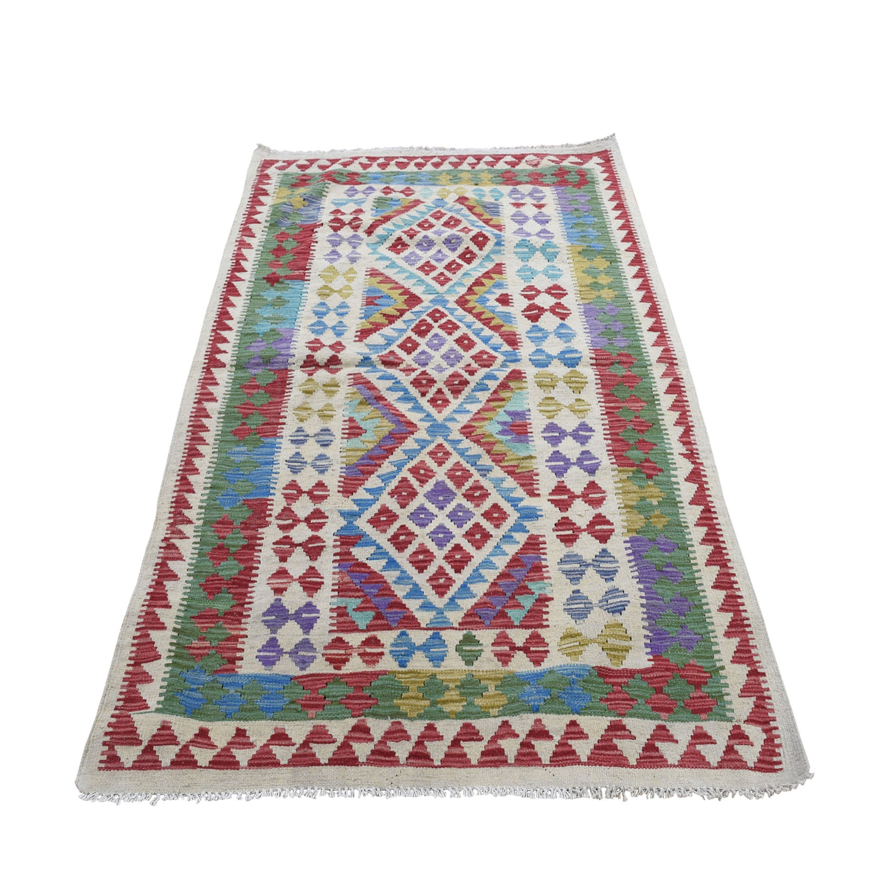 Fine Kilim Collection Hand Woven Red Rug No: 0196268