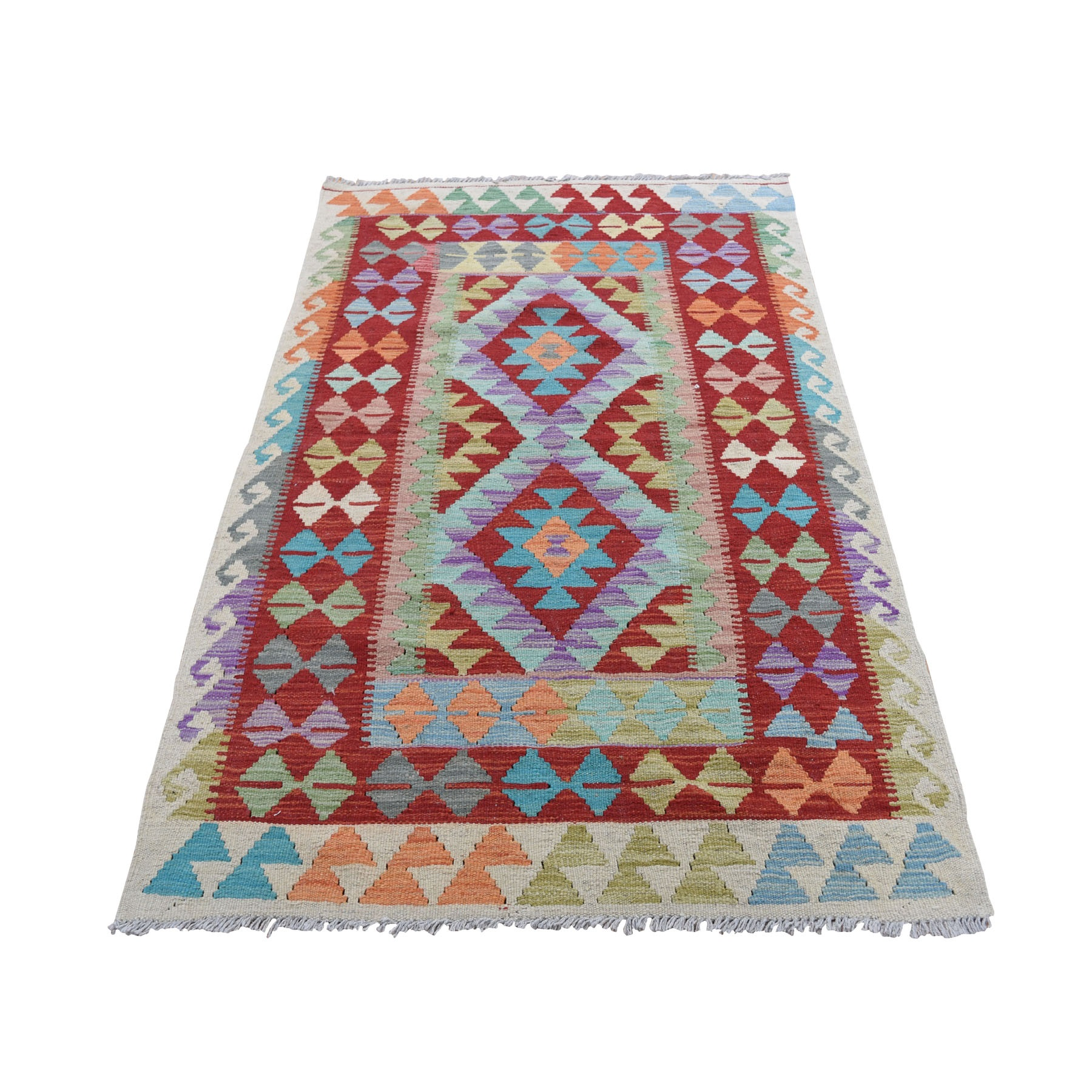 Fine Kilim Collection Hand Woven Red Rug No: 0196280