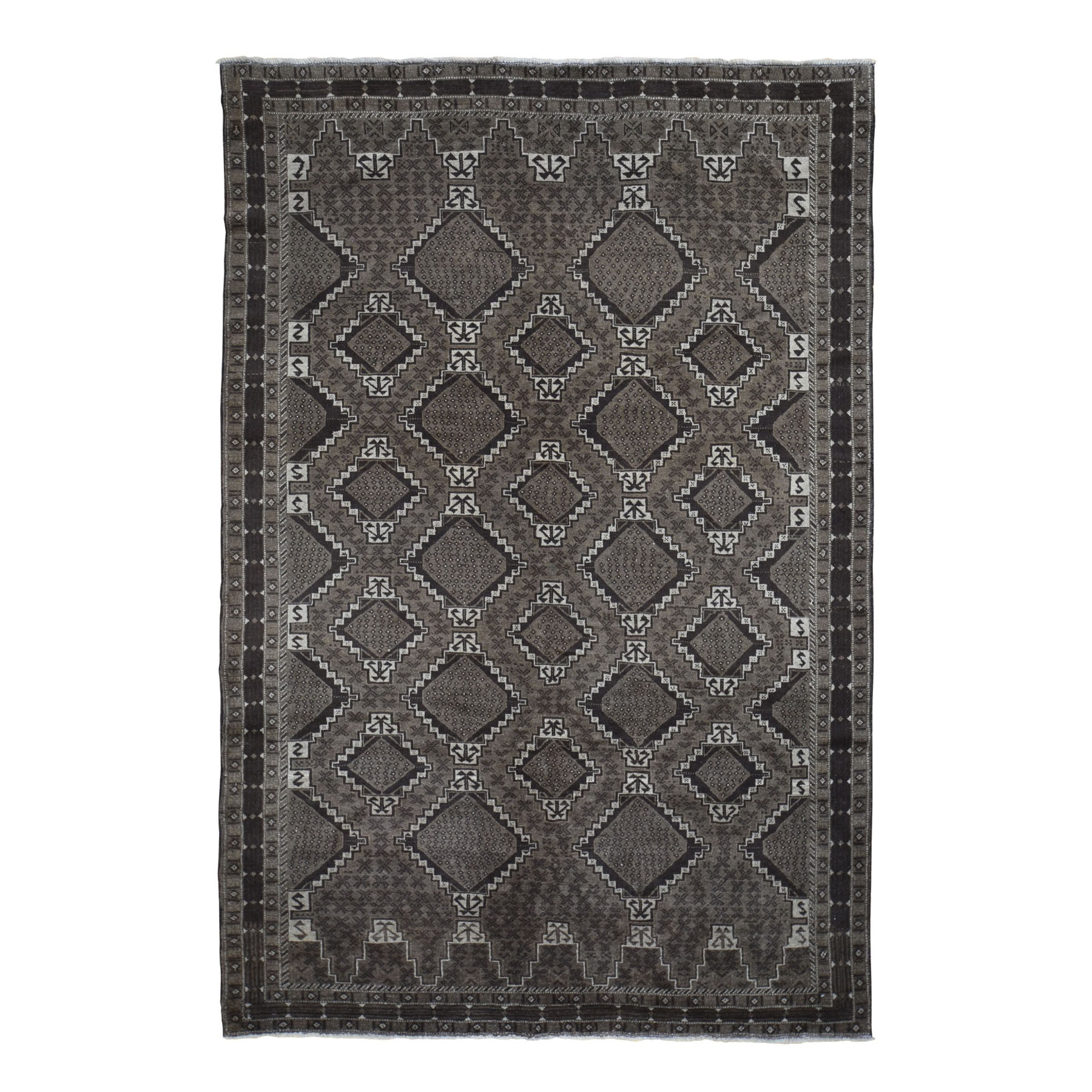 Nomadic And Village Collection Hand Knotted Brown Rug No: 0196290