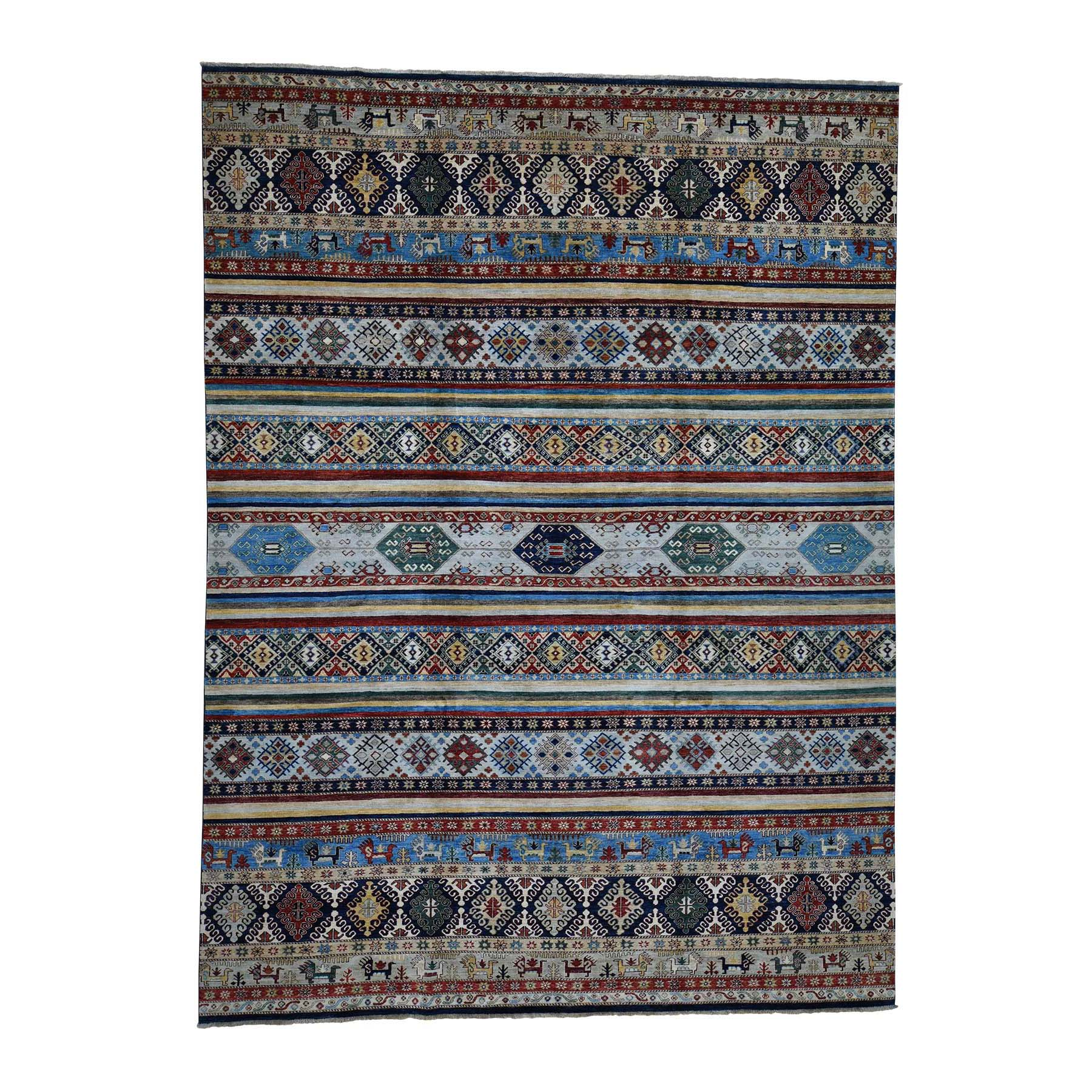 Caucasian Collection Hand Knotted Multicolored Rug No: 0183778