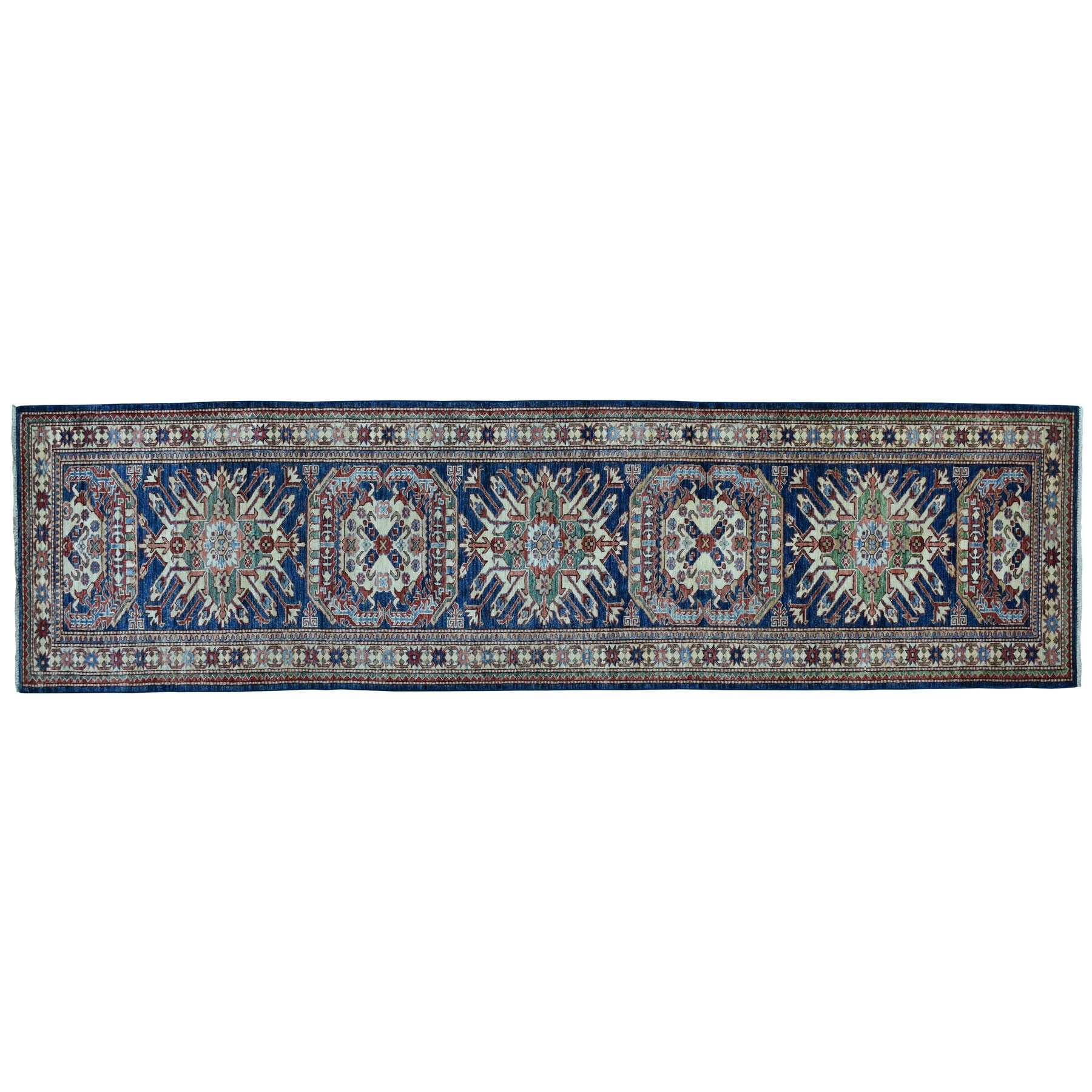 Caucasian Collection Hand Knotted Blue Rug No: 01100766