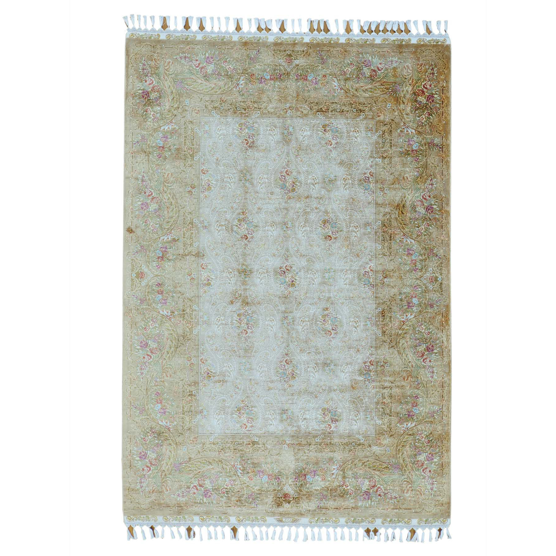 Pirniakan Collection Hand Knotted Beige Rug No: 148130