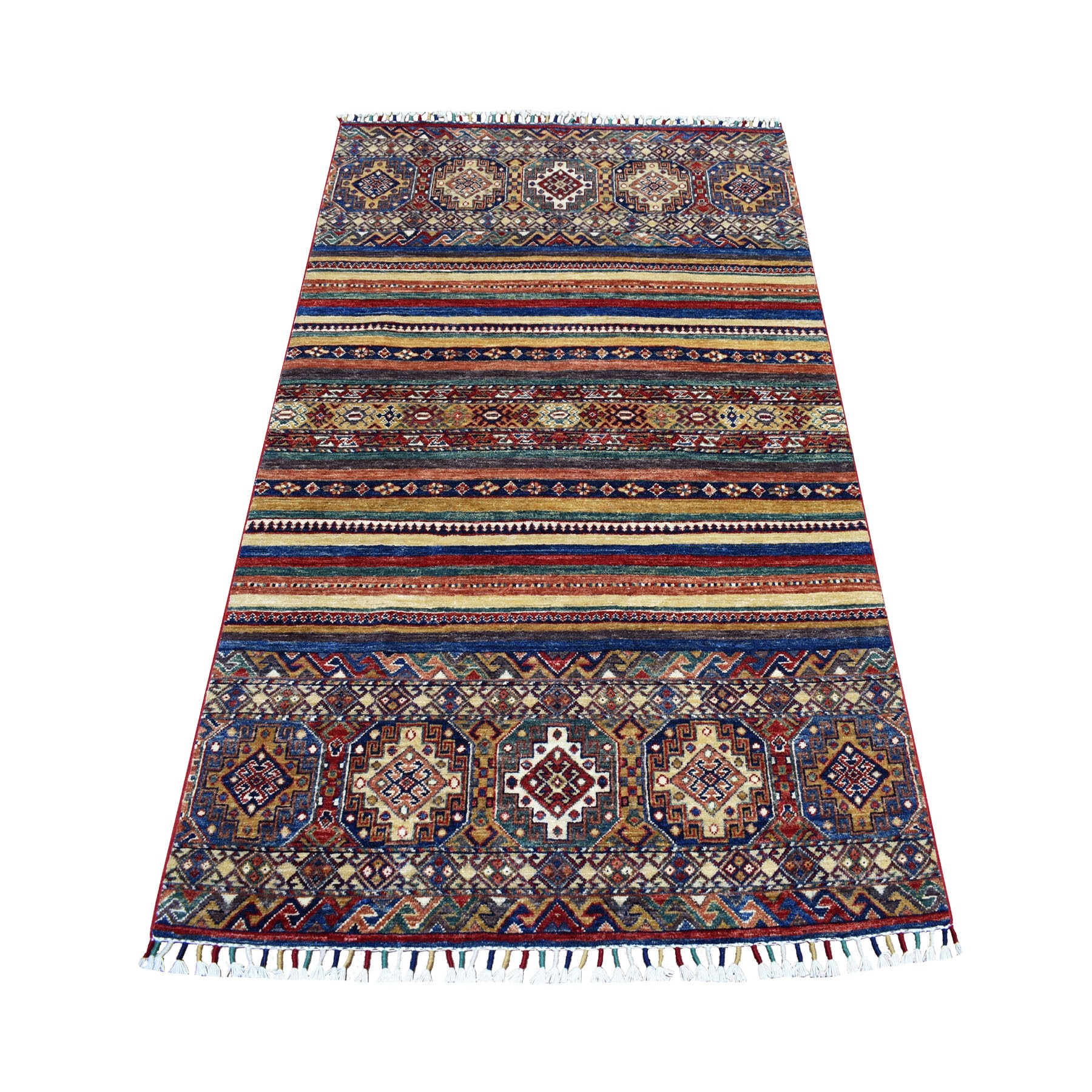 Caucasian Collection Hand Knotted Red Rug No: 01104084