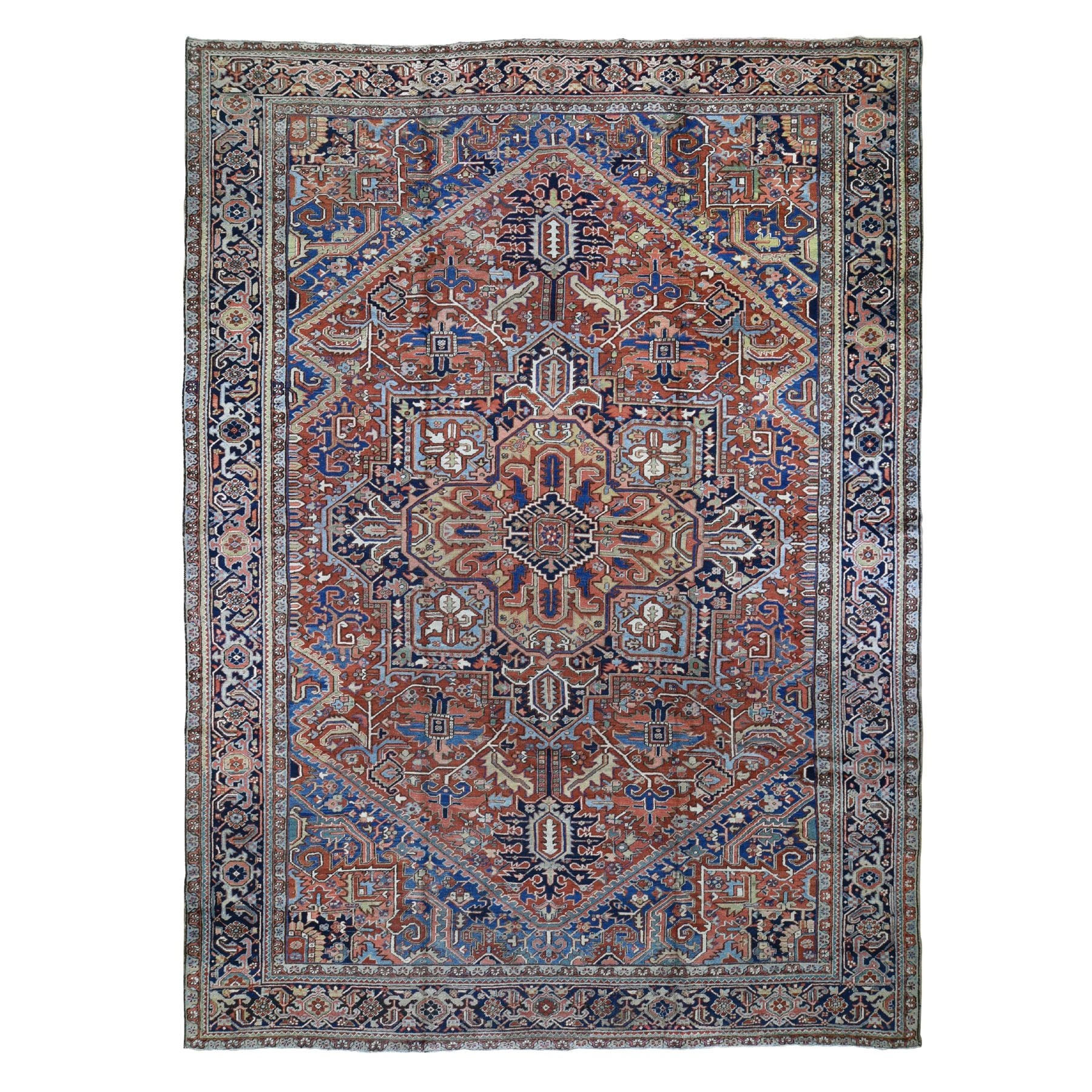 Serapi Heriz and Bakhshayesh Collection Hand Knotted Red Rug No: 0196368