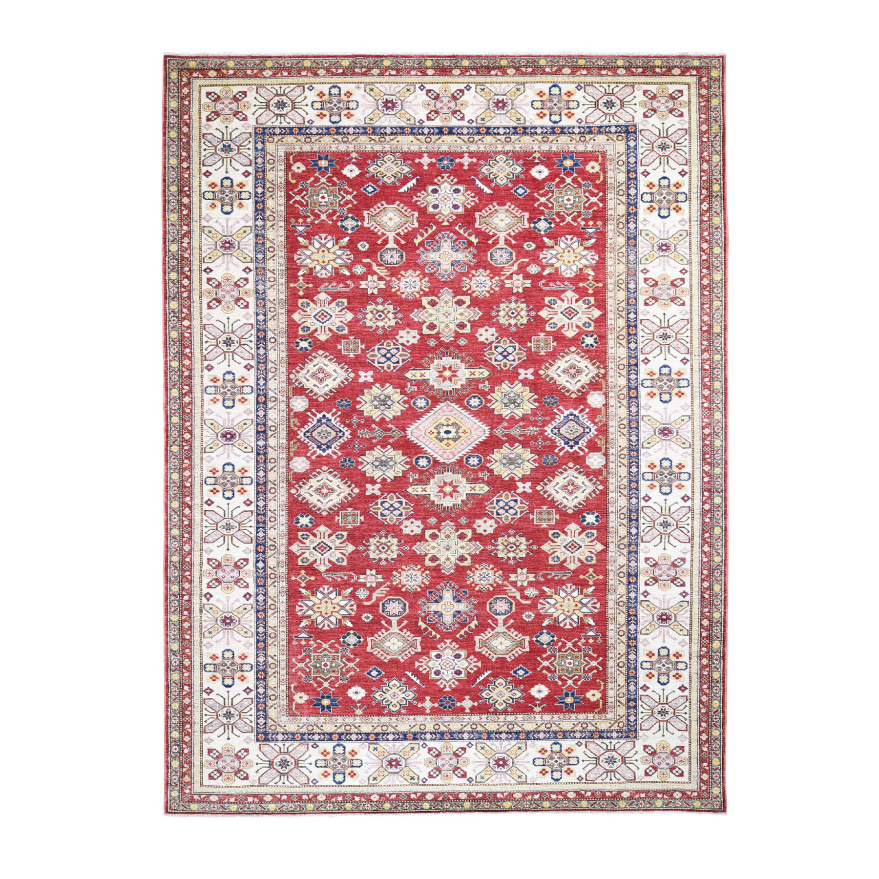 Caucasian Collection Hand Knotted Red Rug No: 0196296