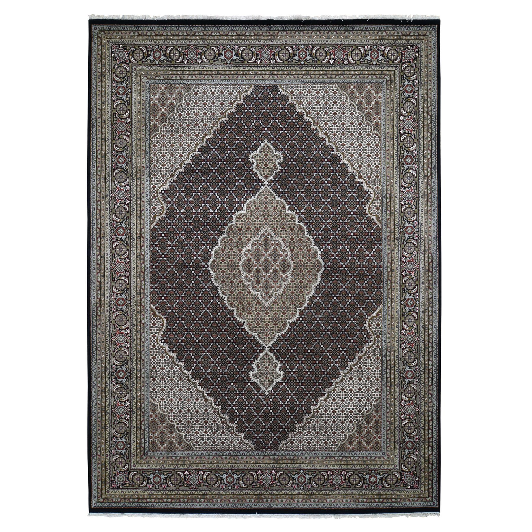 Pirniakan Collection Hand Knotted Black Rug No: 0196306